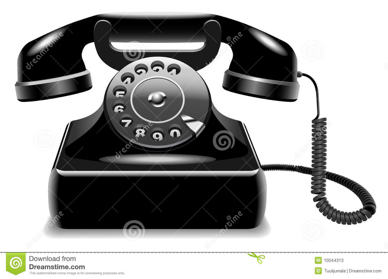 Outdated black telephone.
