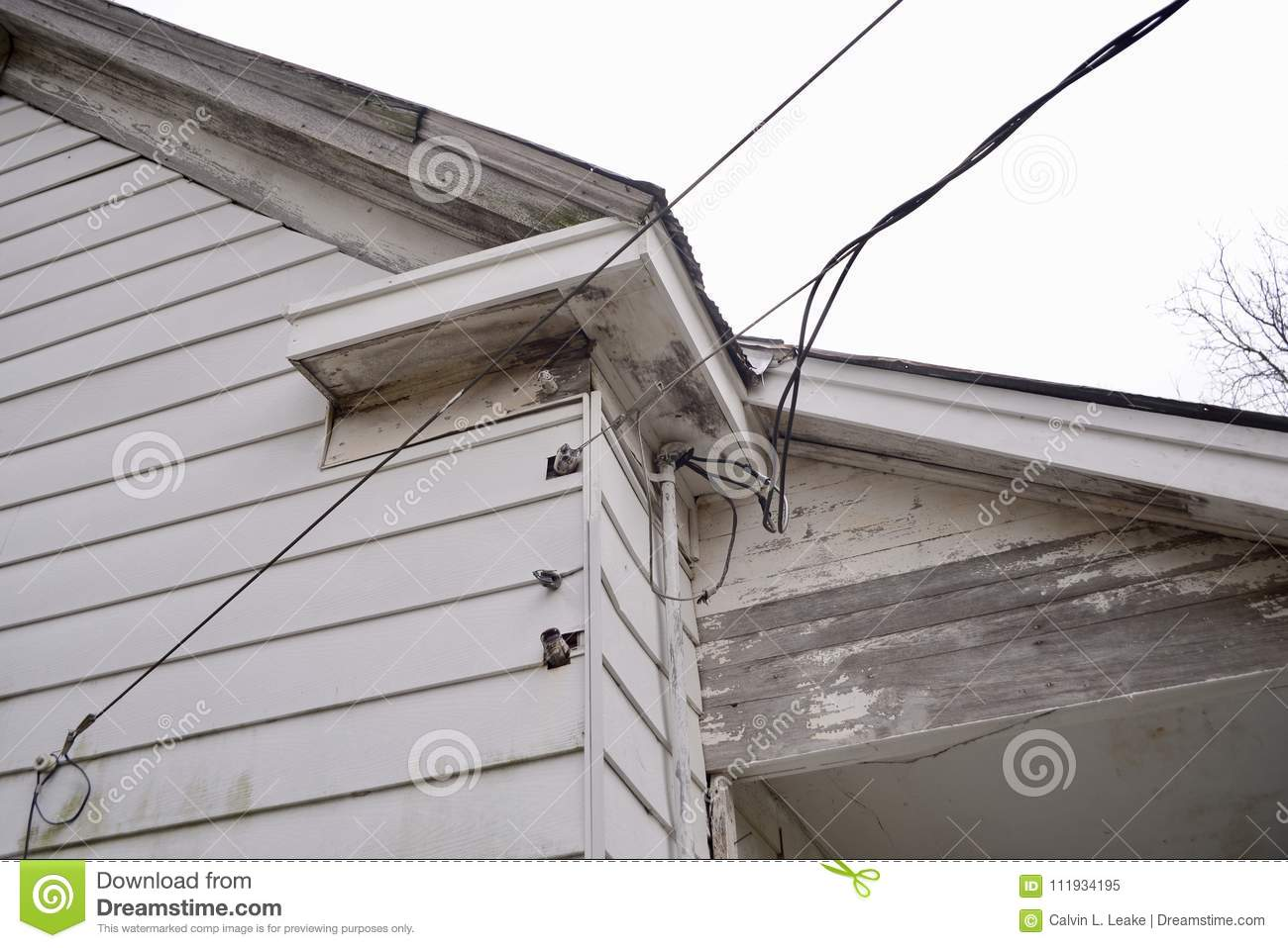 Electric Power Lines To A House Stock Image - Image of bulb, bright ...