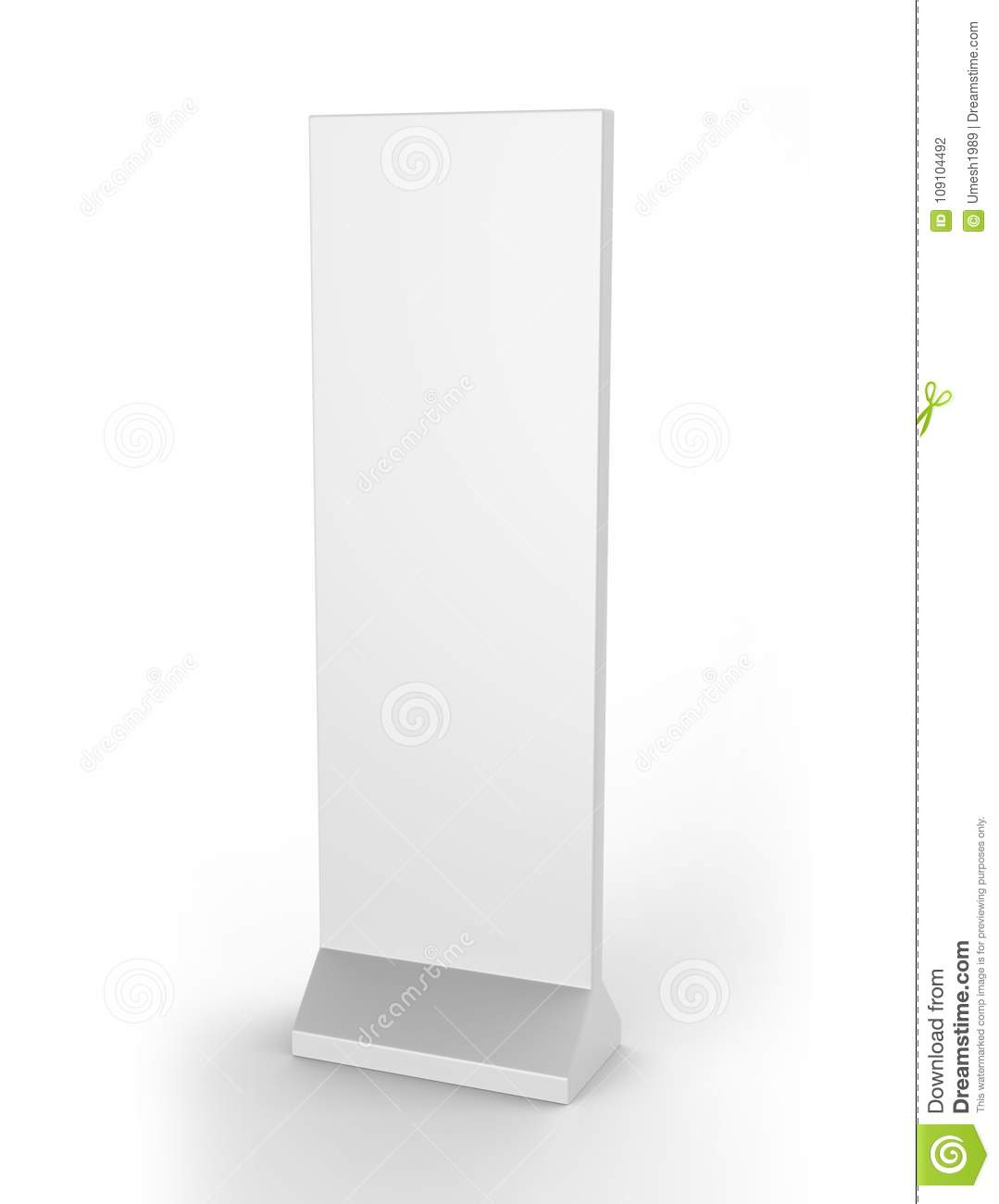 Outdoor Advertising POS POI Stand Banner Or Lightbox. Illustration Isolated On White Background. Mock Up Template Ready For Your D