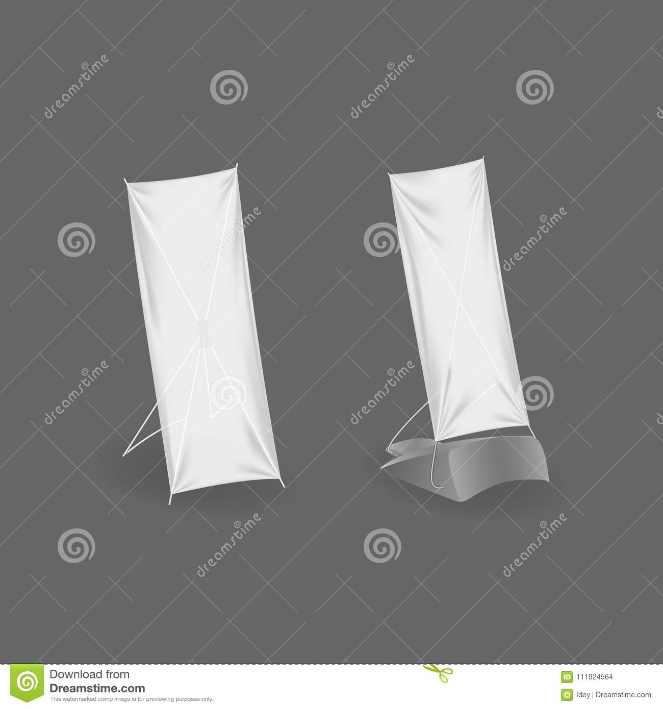 Outdoor advertising stand banner. Realistic billboards, blank poster, retail signs.