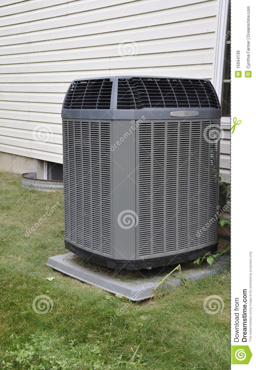 Outdoor Air Conditioner Unit Royalty Free Stock Images