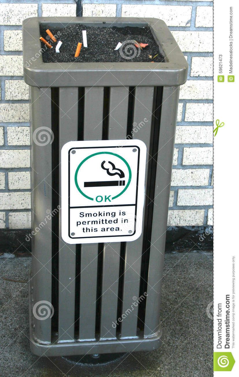 Outdoor Ashtray Stock Image Image Of Outdoor Area Smoking 59621473