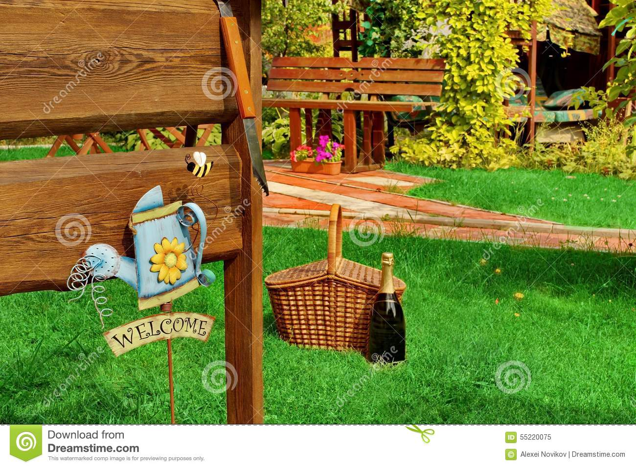 outdoor backyard bbq grill party or picnic scene in the summer