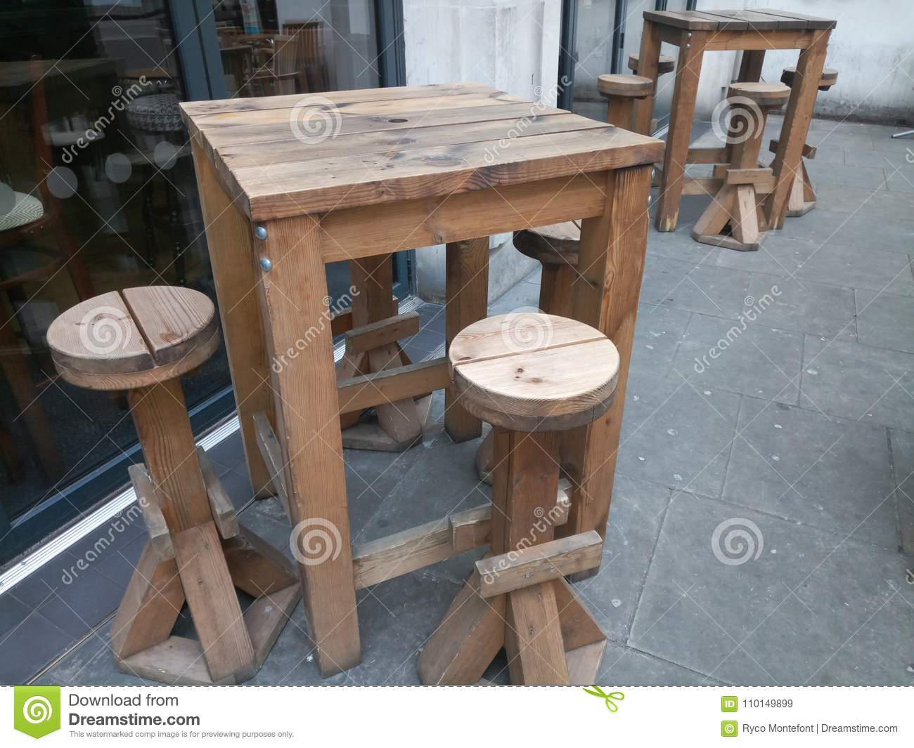 Picture of: Outdoor Bar Table Stock Image Image Of Table Tall 110149899
