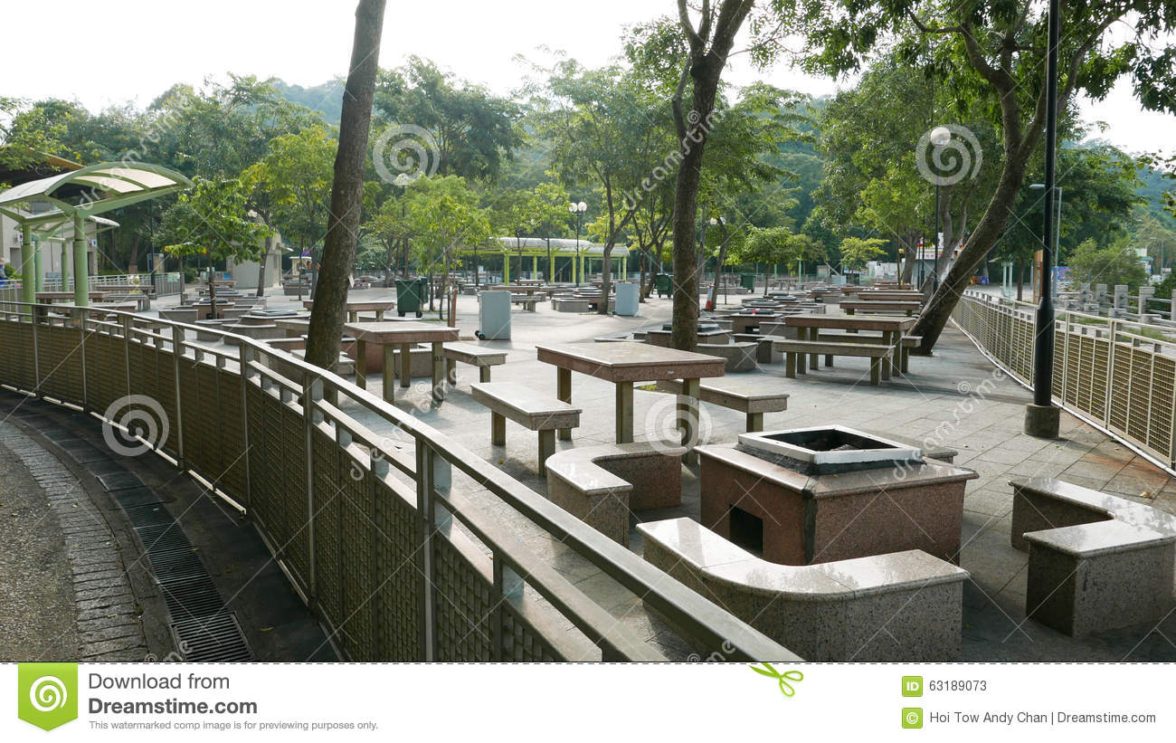 Outdoor Barbeque Place At Daytime Stock Photo Image