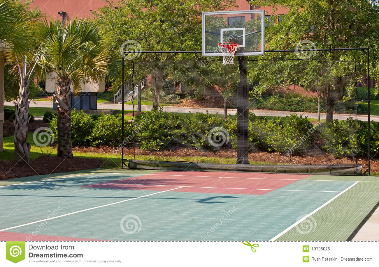 Outdoor Basketball Court Stock Image Image Of Basket
