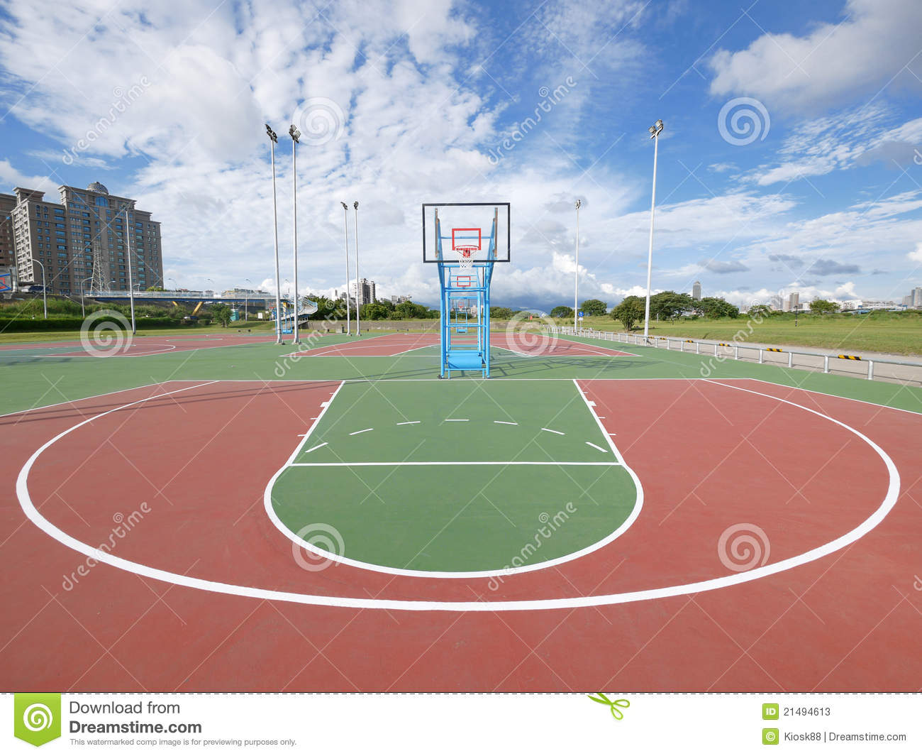 Outdoor basketball court stock photos image 21494613 for Outdoor sports court