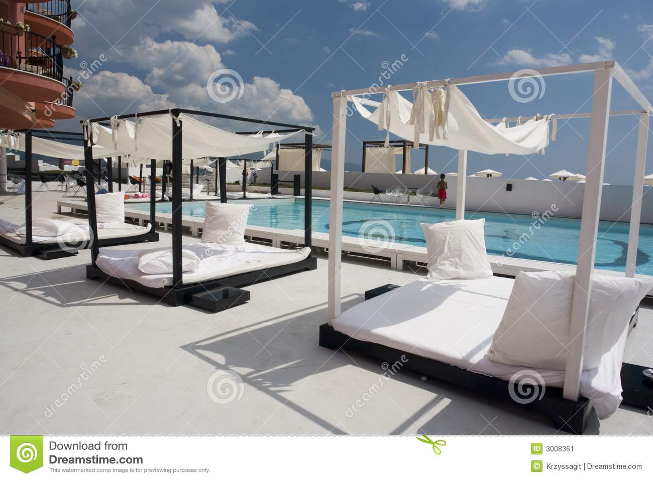 Outdoor Beds Stock Image Image 3008361