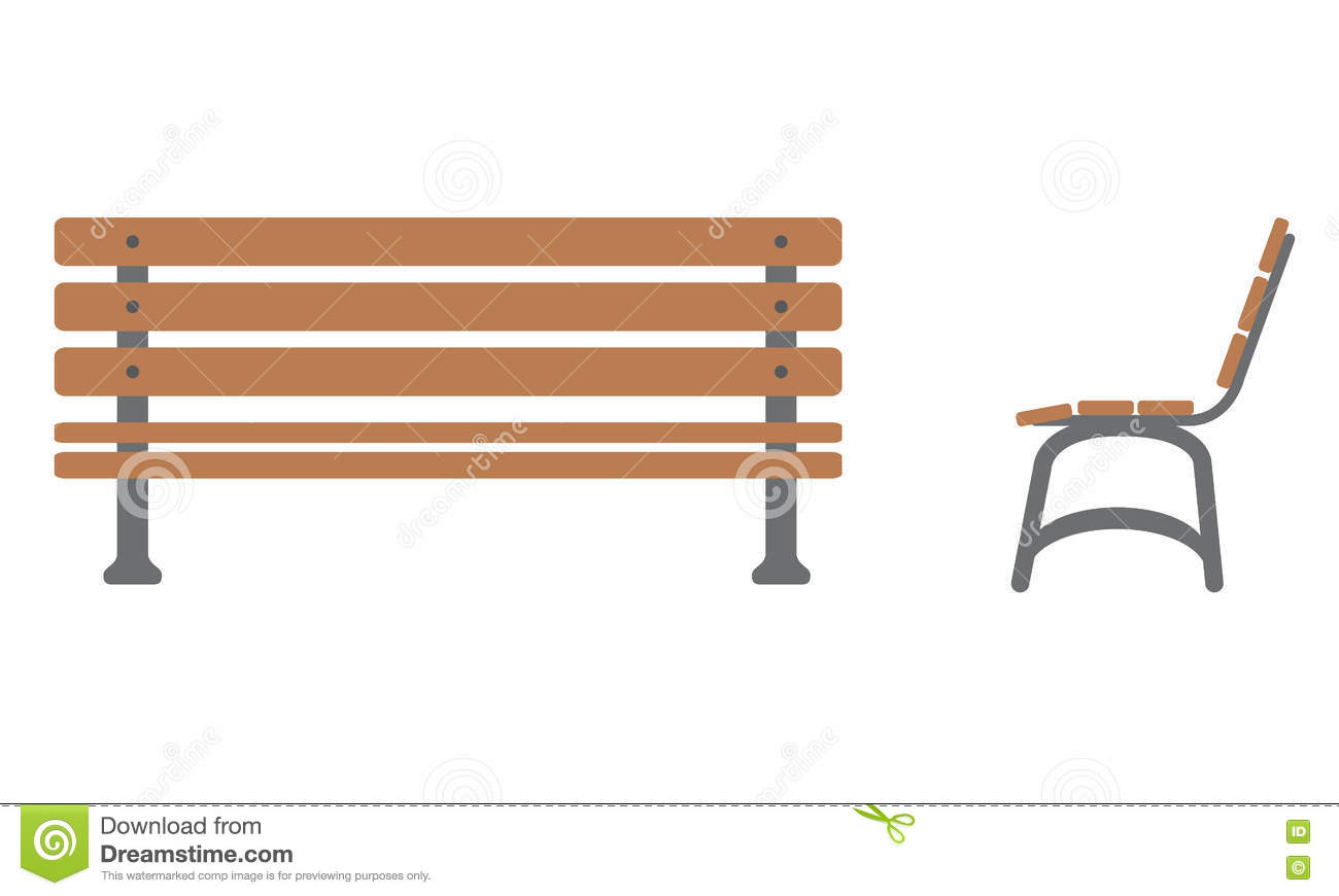 Outdoor table and chairs side view - Outdoor Bench Icon With Front And Side View