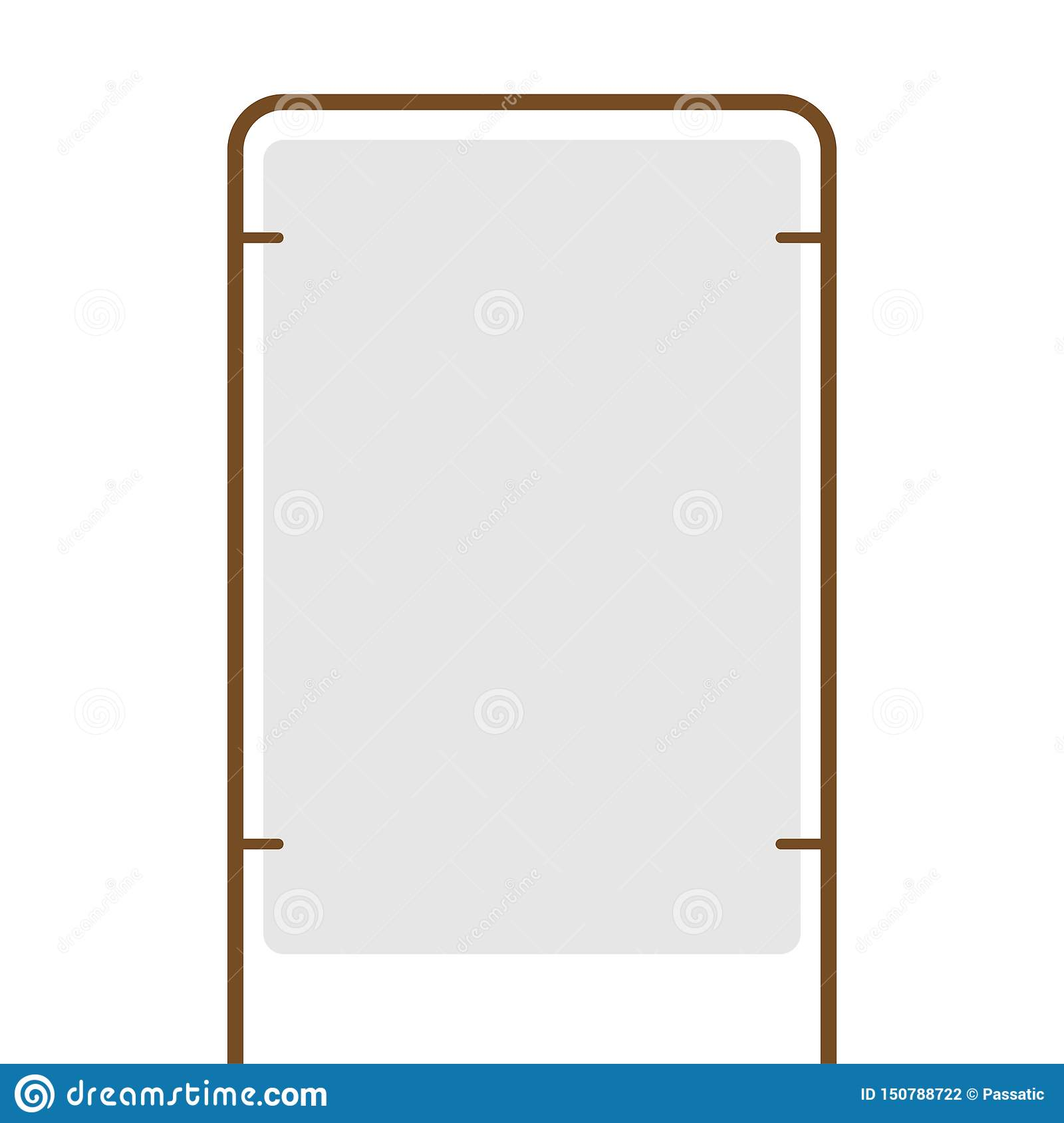 Outdoor blank advertising stand with the frame