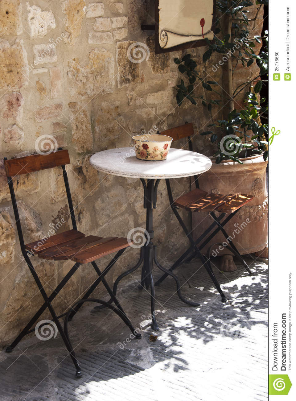 Outdoor Cafe Stock Photo Image 25776660