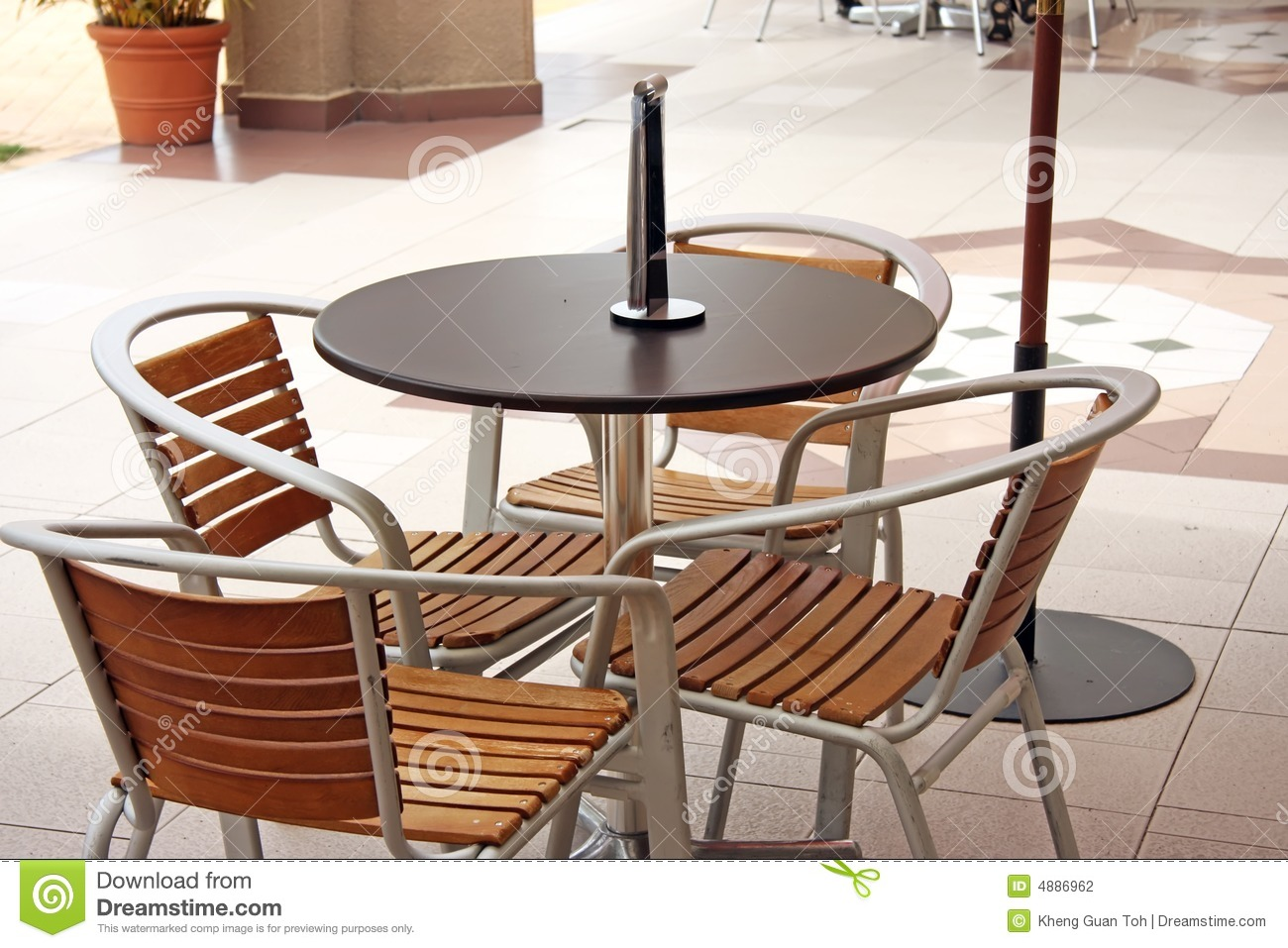 Outdoor cafe chairs - Outdoor Cafe Furniture Stock Photography