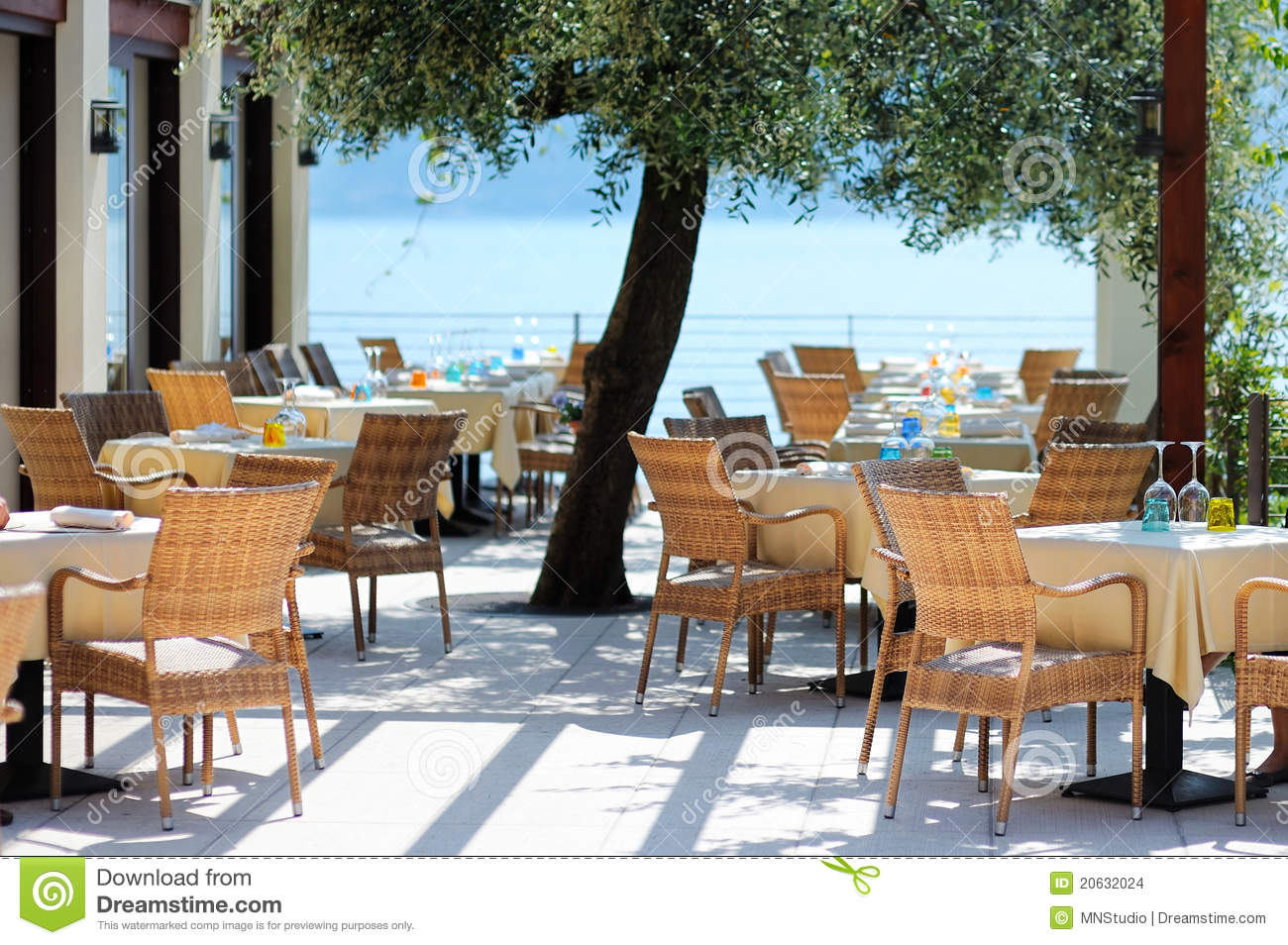 Outdoor Cafe In Italy Stock Image