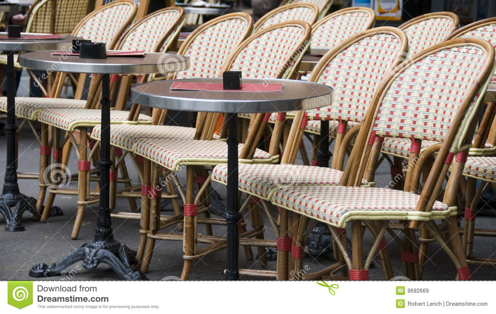 Paris Sidewalk Cafe Chairs