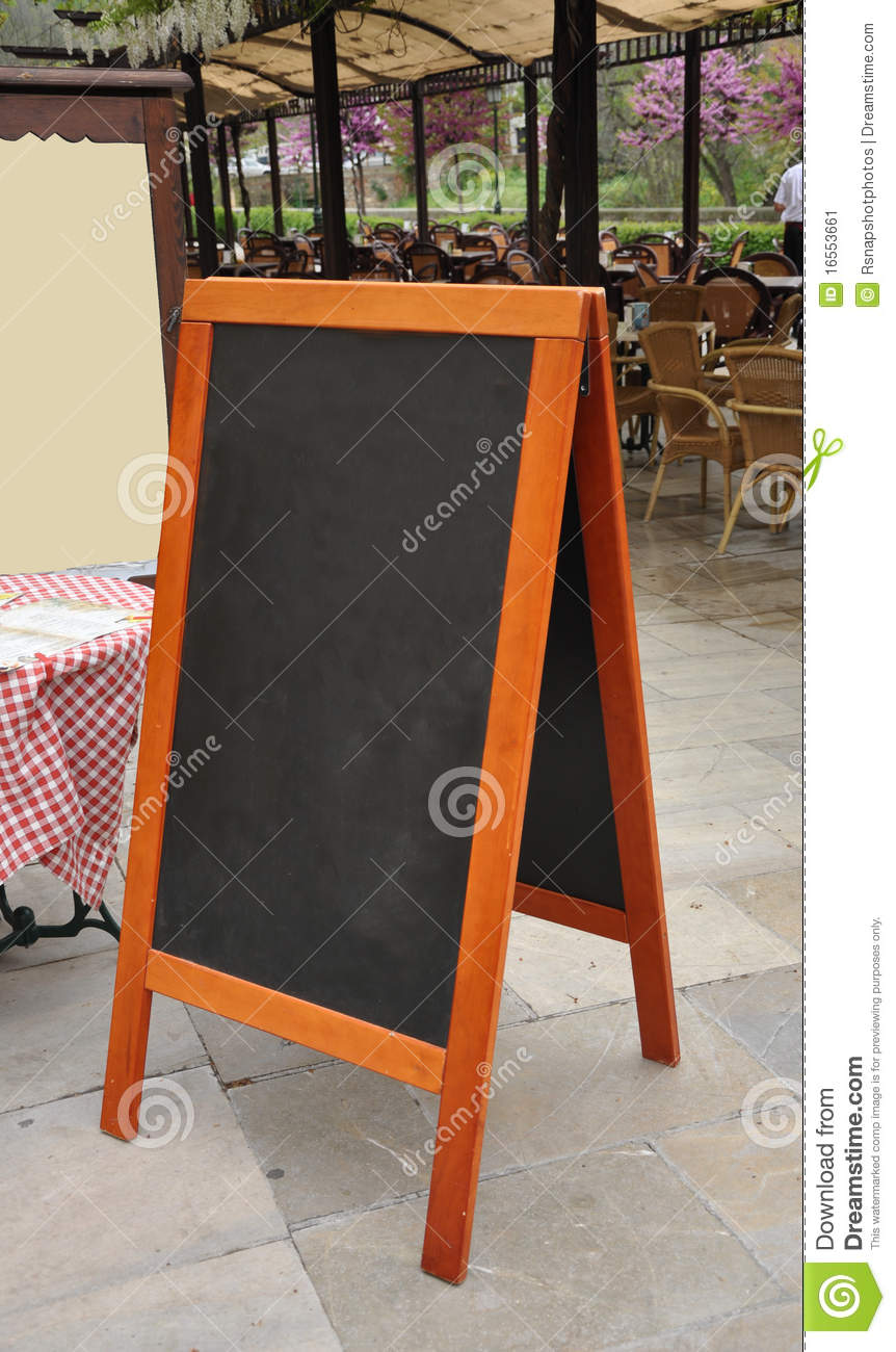 Outdoor Cafe Restaurant Menu Board Stock Image Image Of Outdoor Sign 16553661