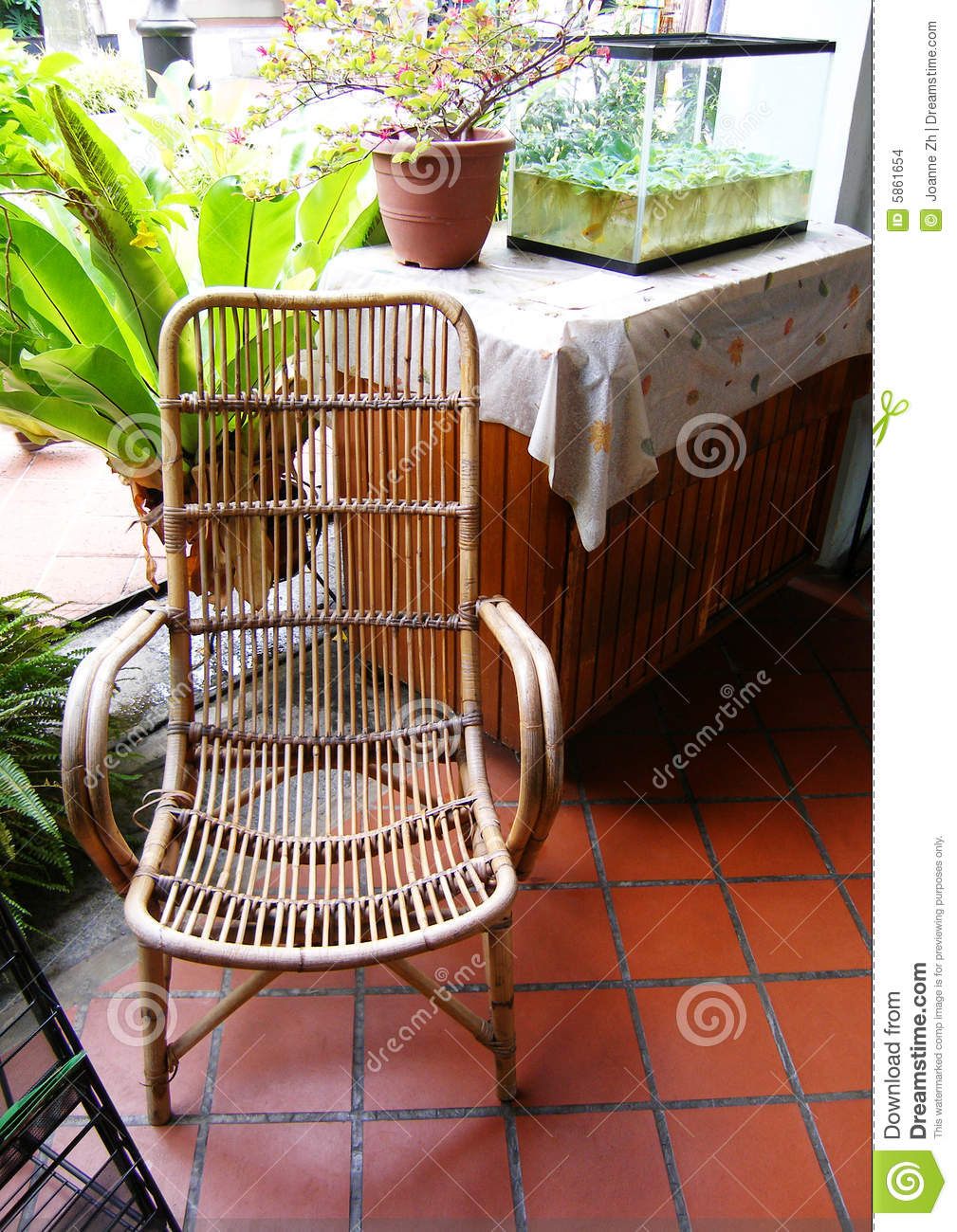 Outdoor Cane Furniture Stock Images - Image: 5861654