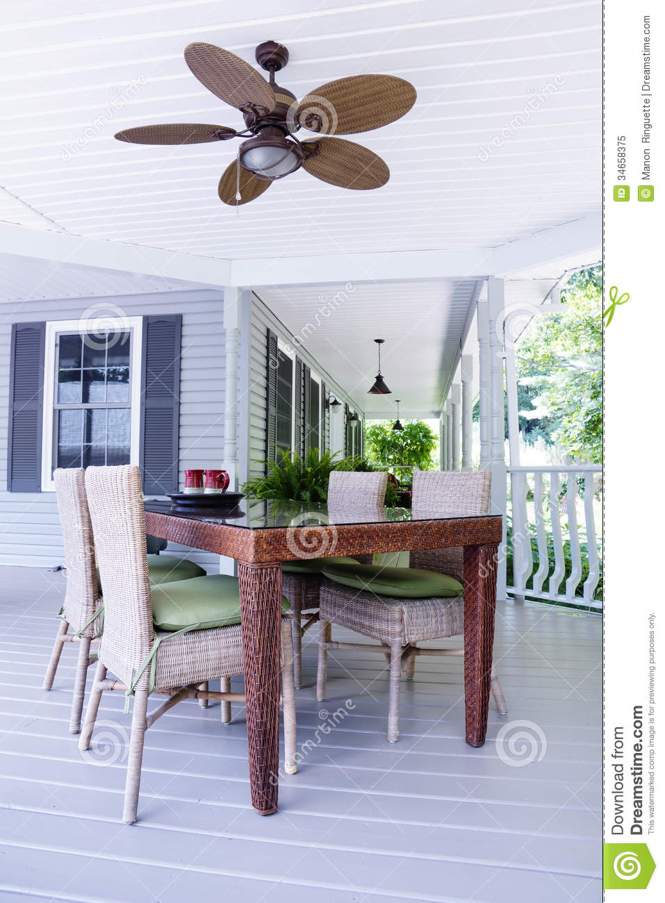 Ceiling Fan Outdoors Stock Image Image Of Furnishing