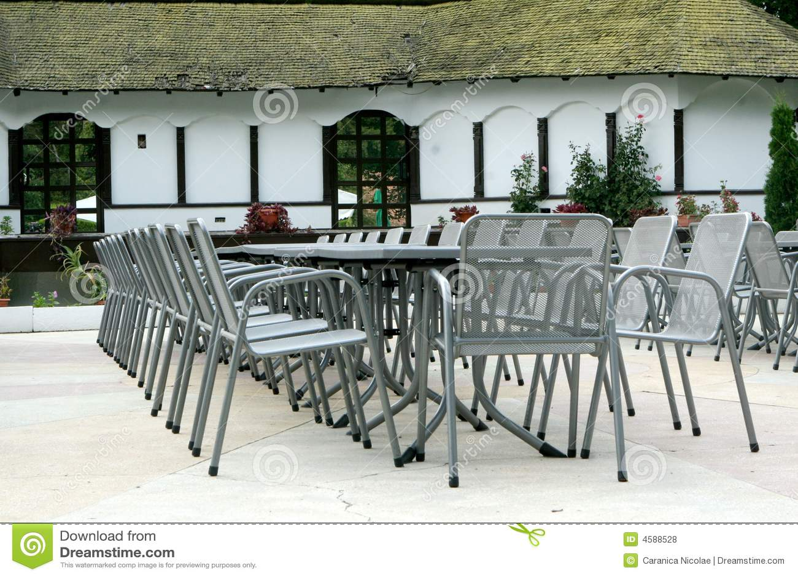 Outdoor Chairs And Tables outdoor chairs and tables royalty free stock photos - image: 4588528