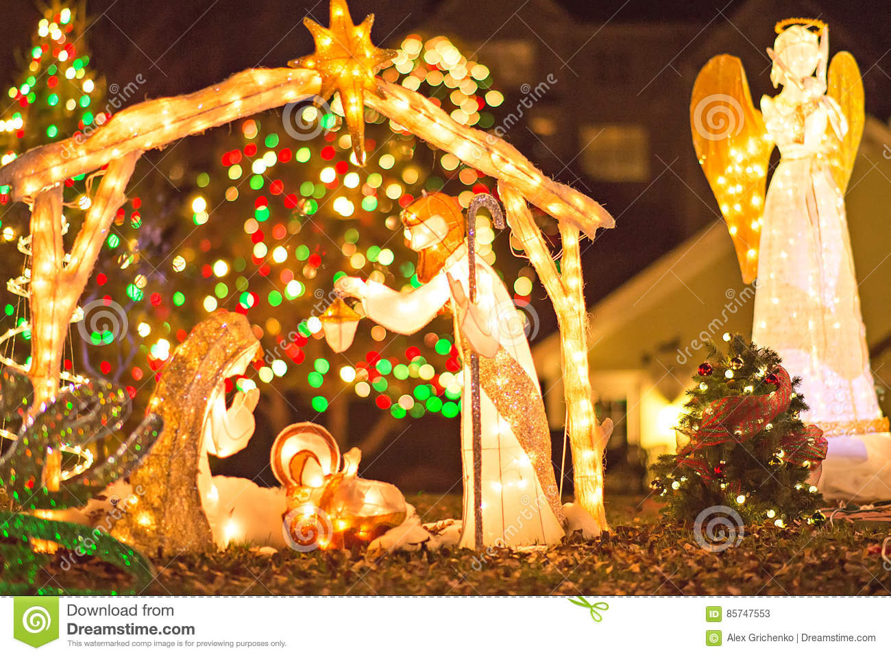 download outdoor christmas decorations at christmas town usa stock image image of light carolina