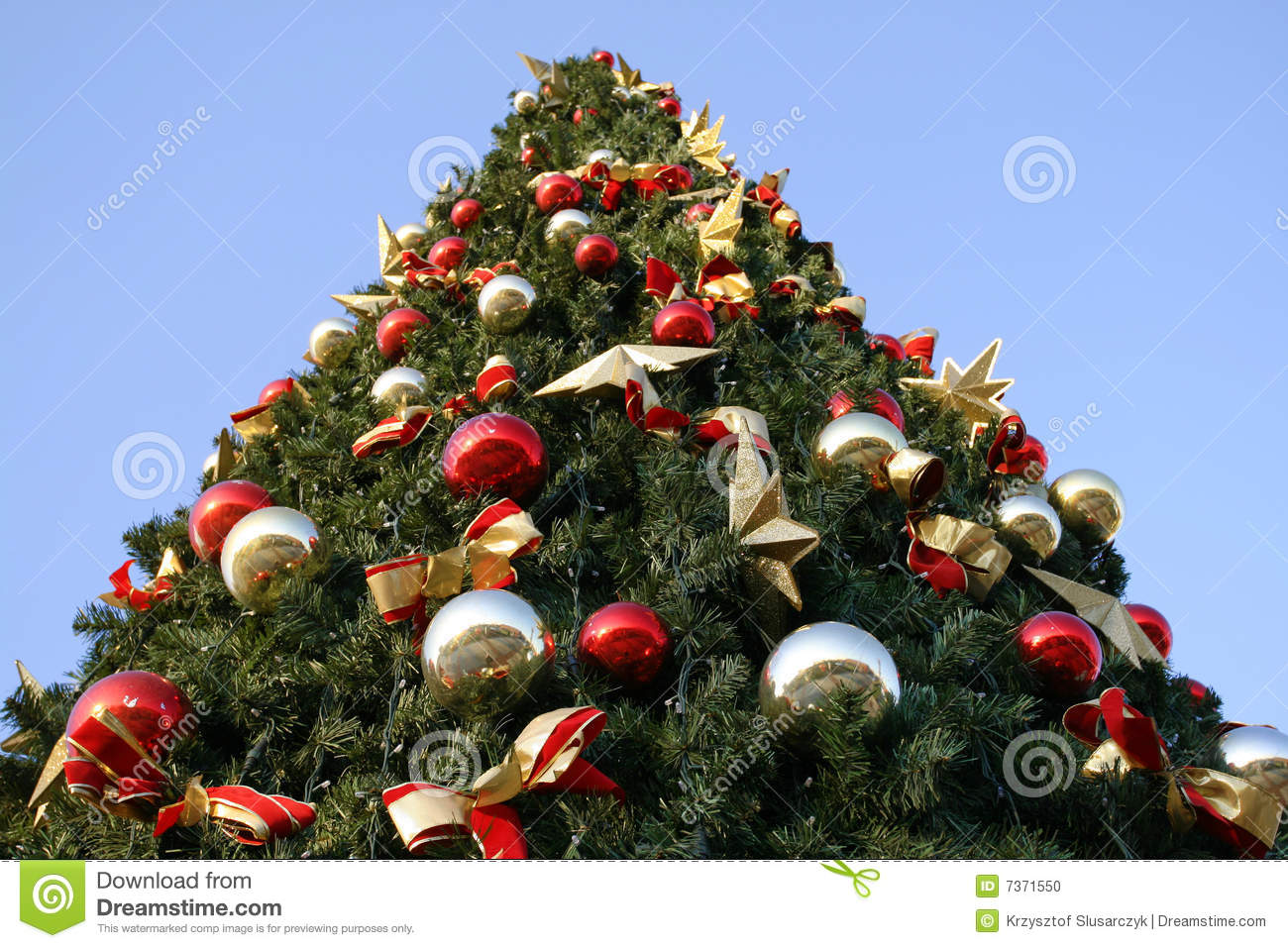 Outdoor christmas tree stock photo image of ornaments Outdoor christmas tree photos