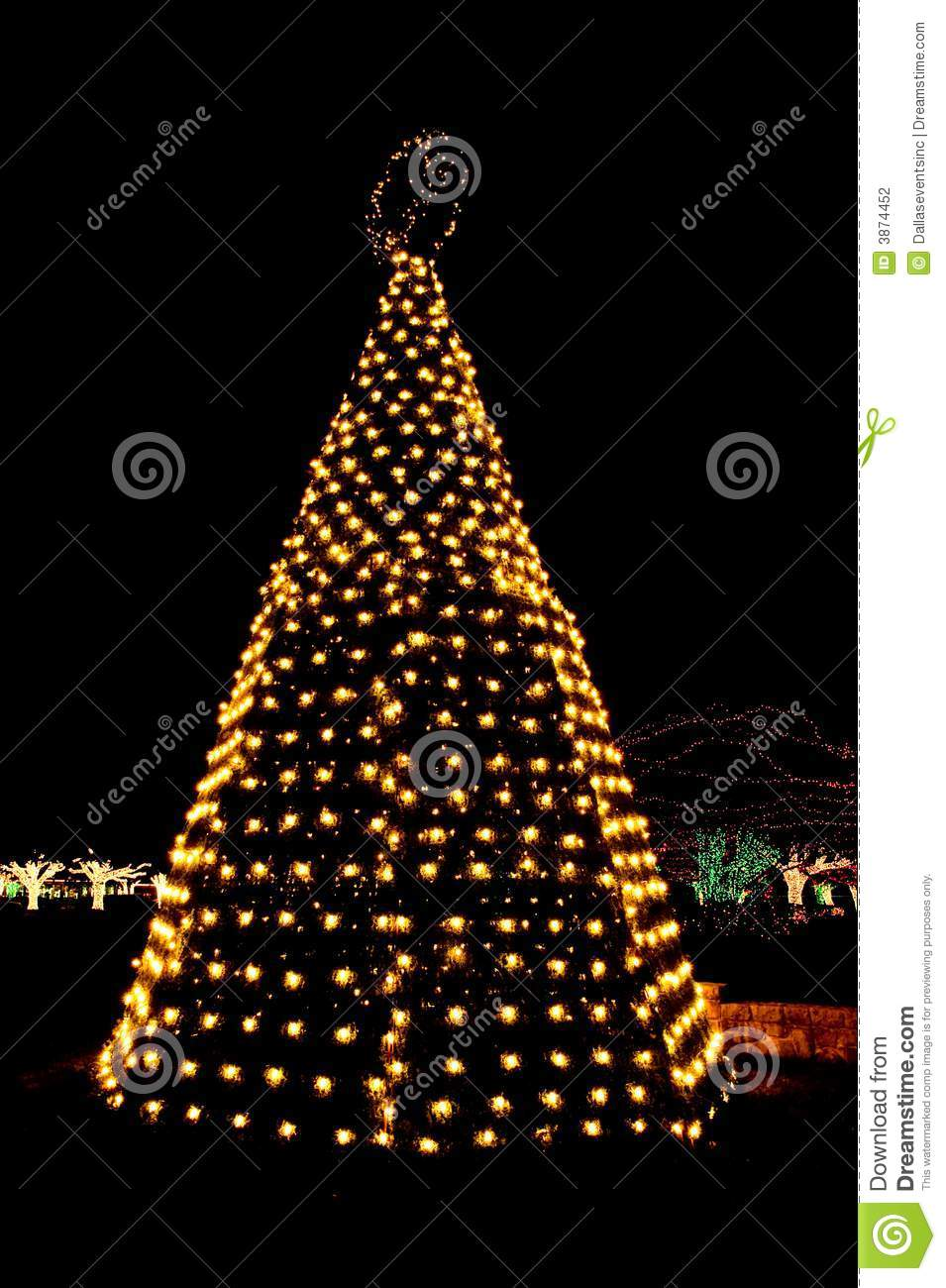 Outdoor Christmas Tree With Lights.Outdoor Christmas Tree Lights Stock Photo Image Of Gold Celebrate