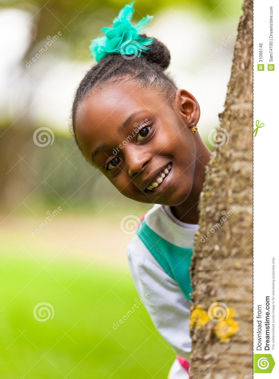 young cute african close portrait outdoor smiling royalty outside