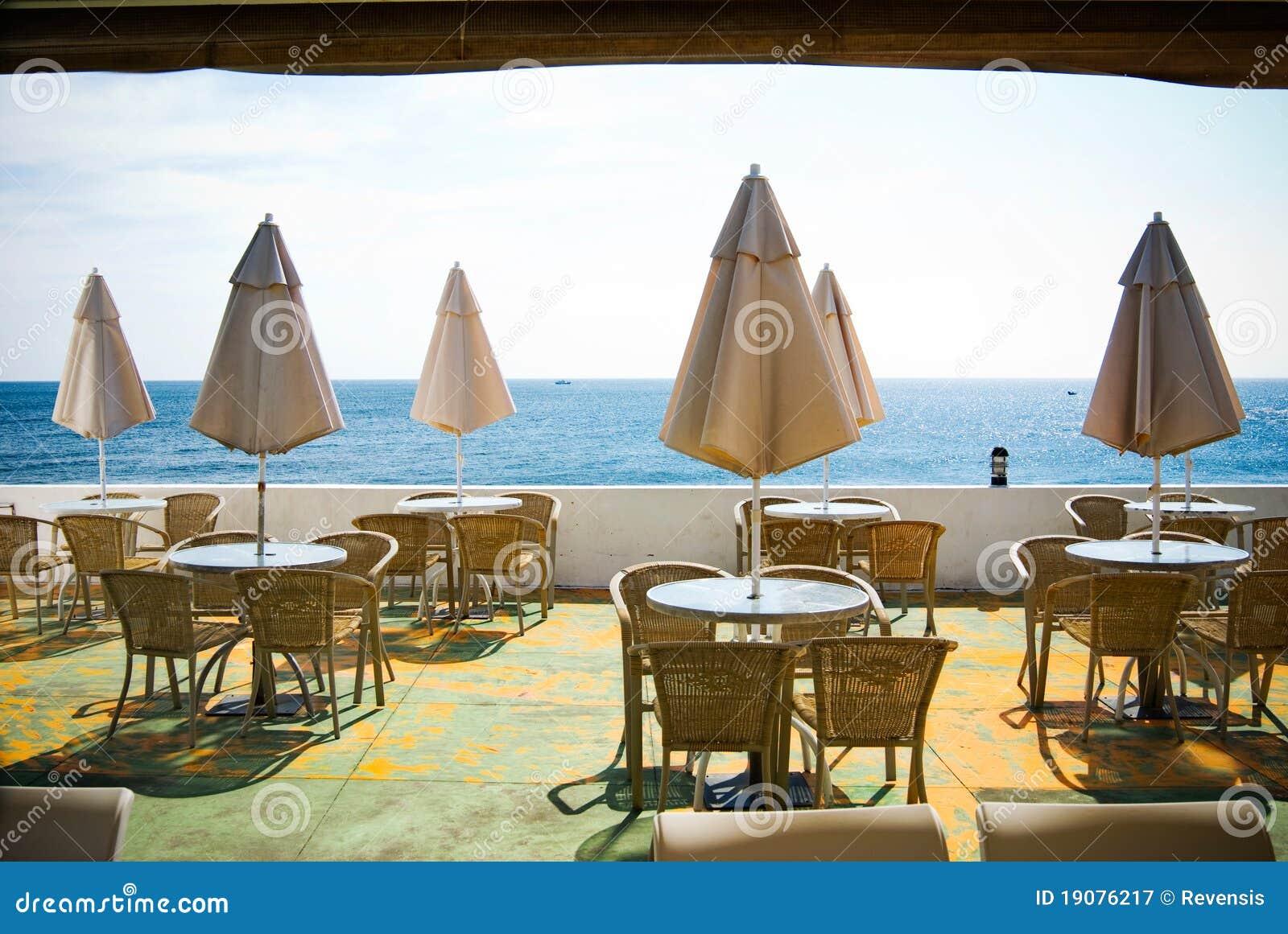 outdoor coffee shop near the sea outdoor coffee shop near the sea ...
