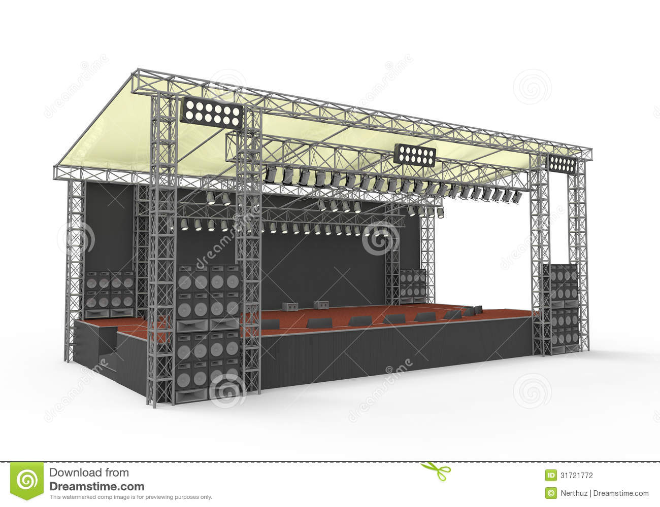 Empty outdoor concert stage - Outdoor Concert Stage Stock Photography