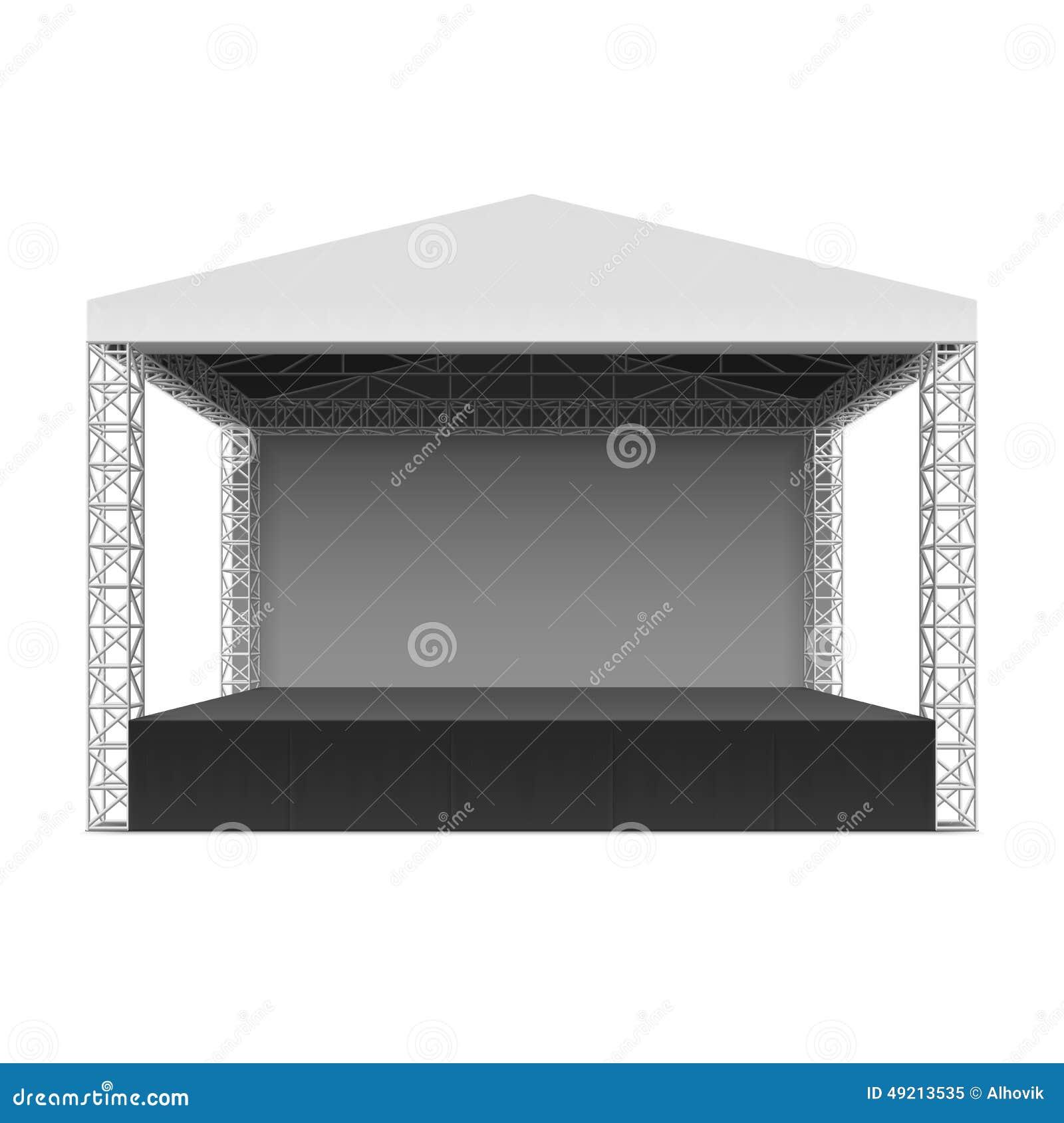 Empty outdoor rock stage - Royalty Free Vector Download Outdoor Concert