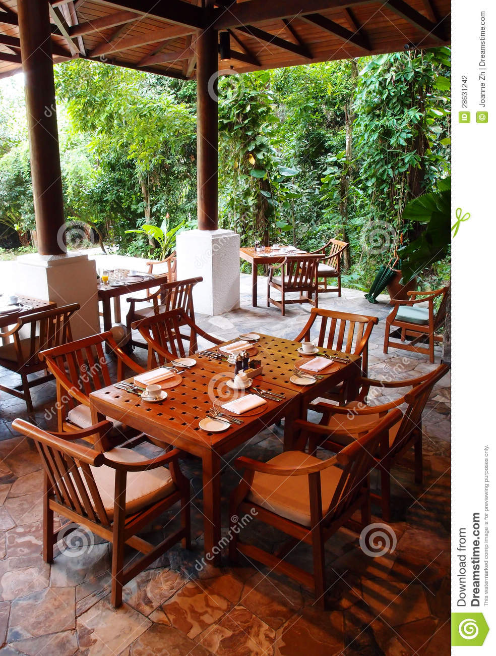Outdoor Dining Restaurant, Nature Surroundings Stock Photography ...