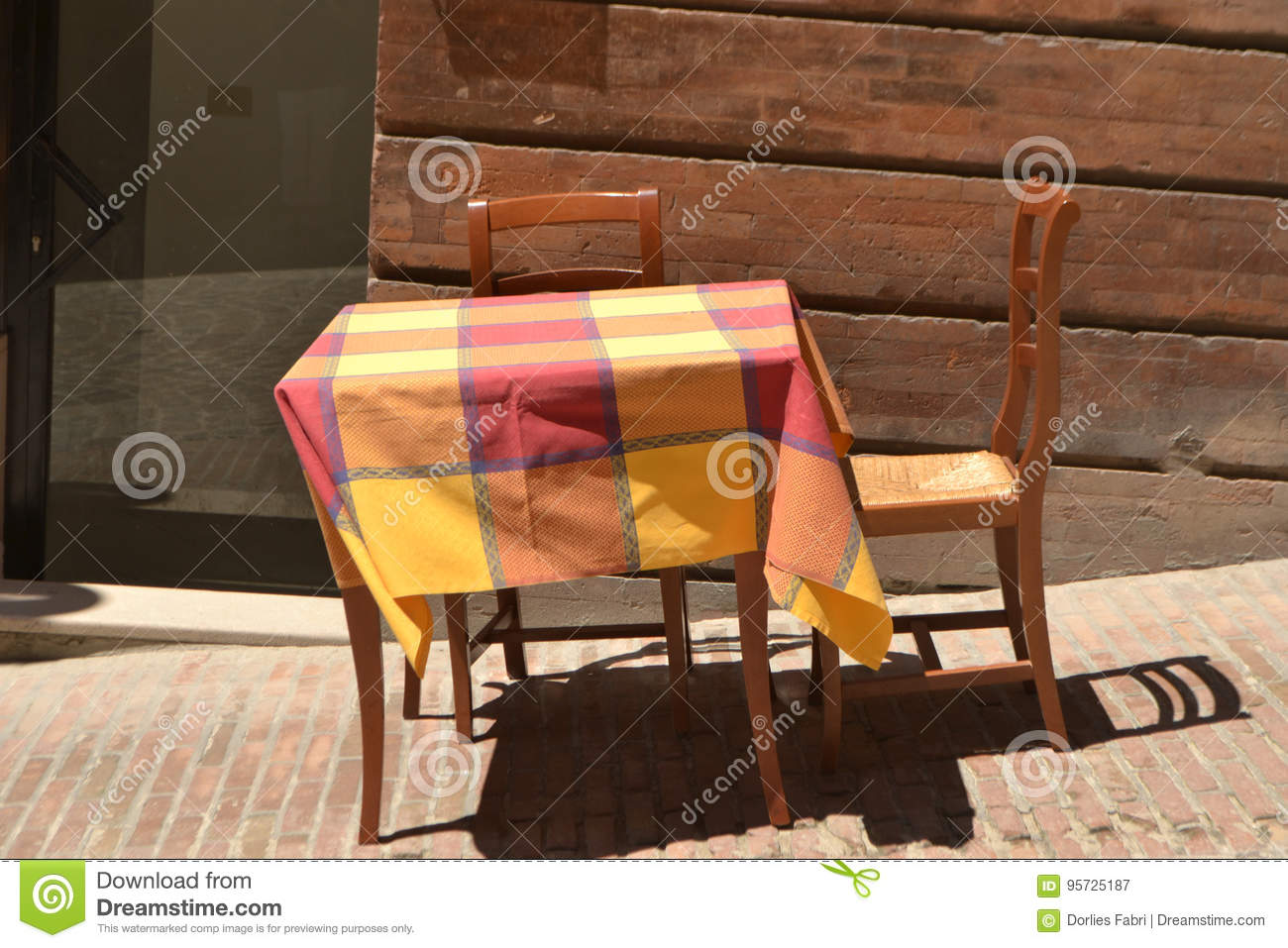 Summer Table And Chairs Part - 23: Royalty-Free Stock Photo. Download Outdoor Dining In Summer With Table And  Chairs ...