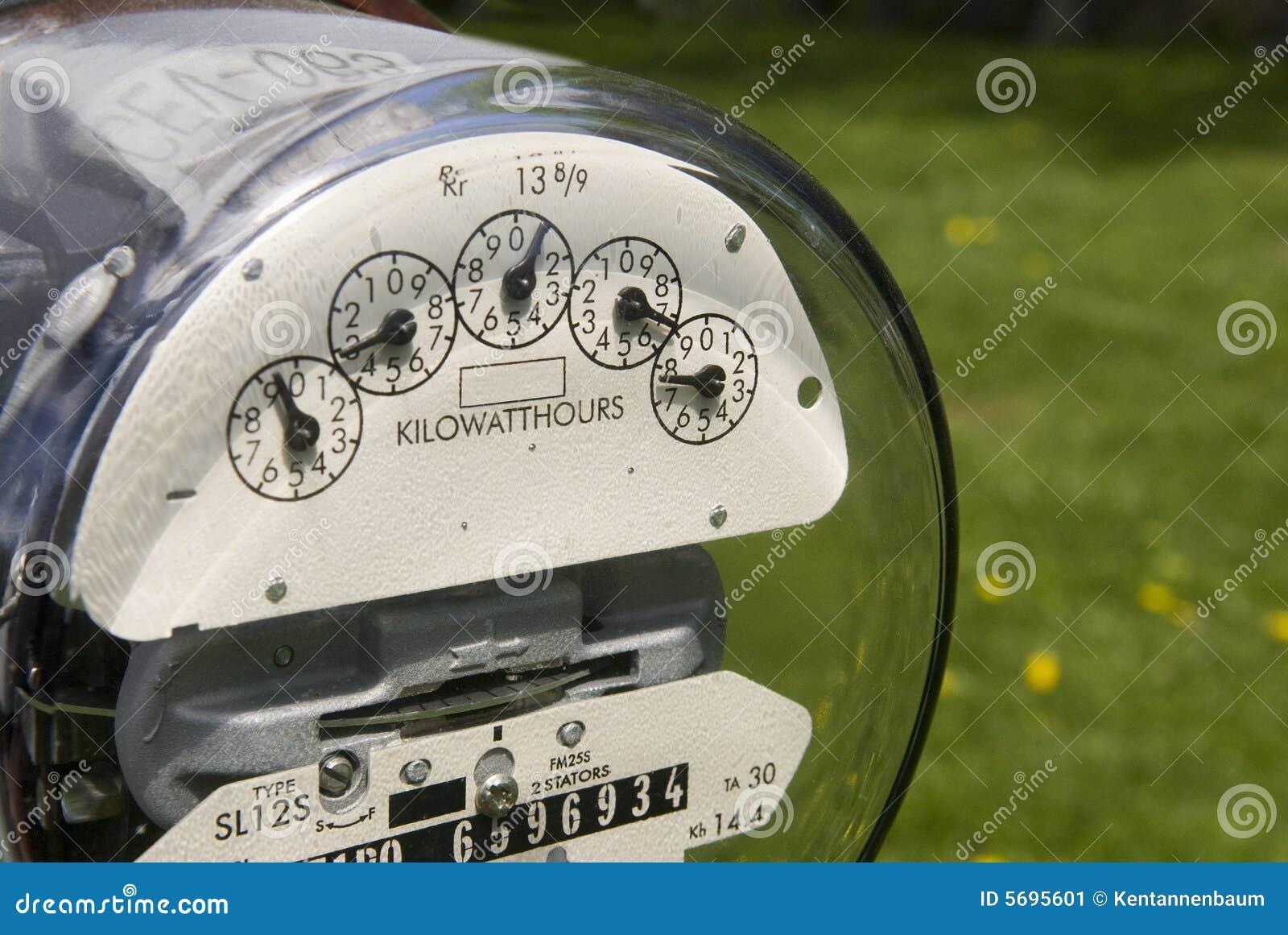 Outdoor Electricity Meter : Outdoor electric meter stock image