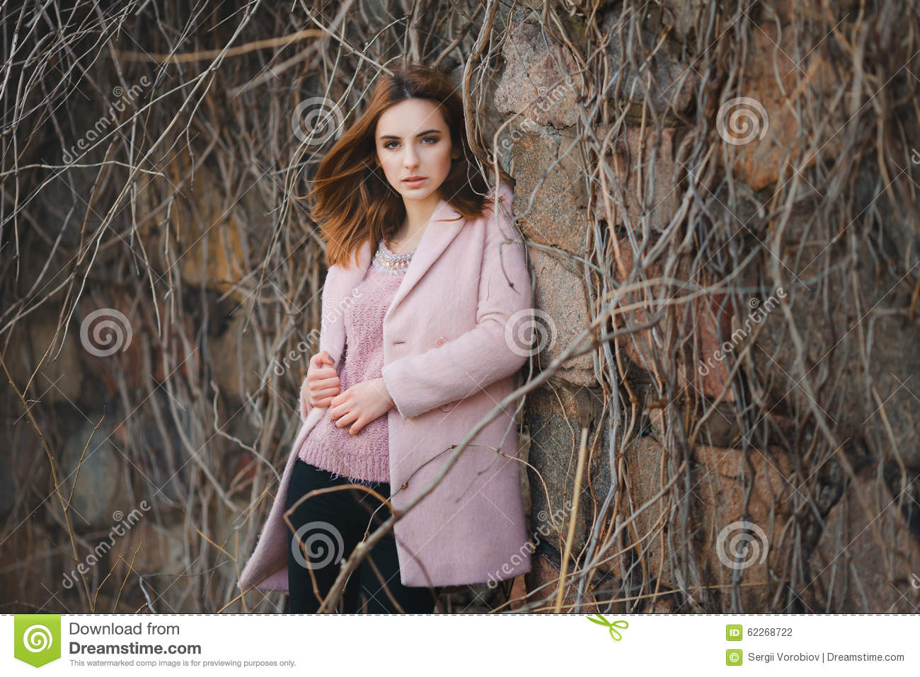Outdoor fashion emotional portrait of glamour