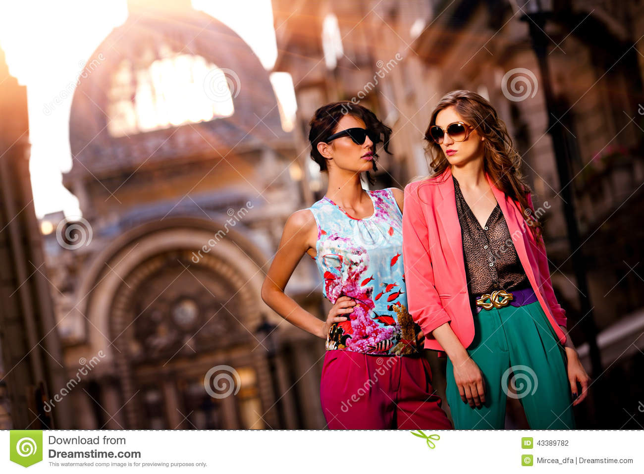 outdoor fashion street young women stock photo   image 43389782