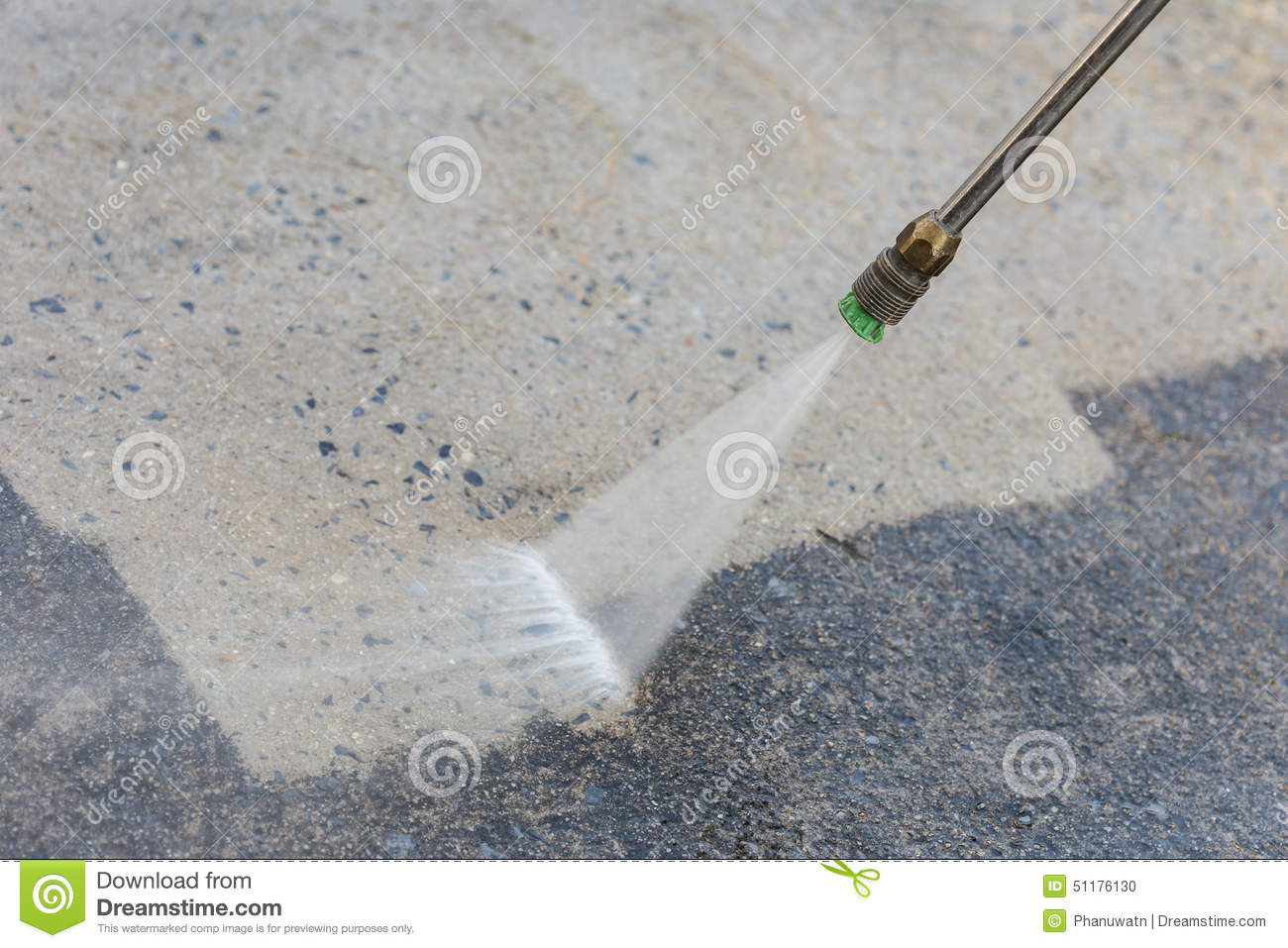 Outdoor Floor Cleaning With High Pressure Water Jet Stock