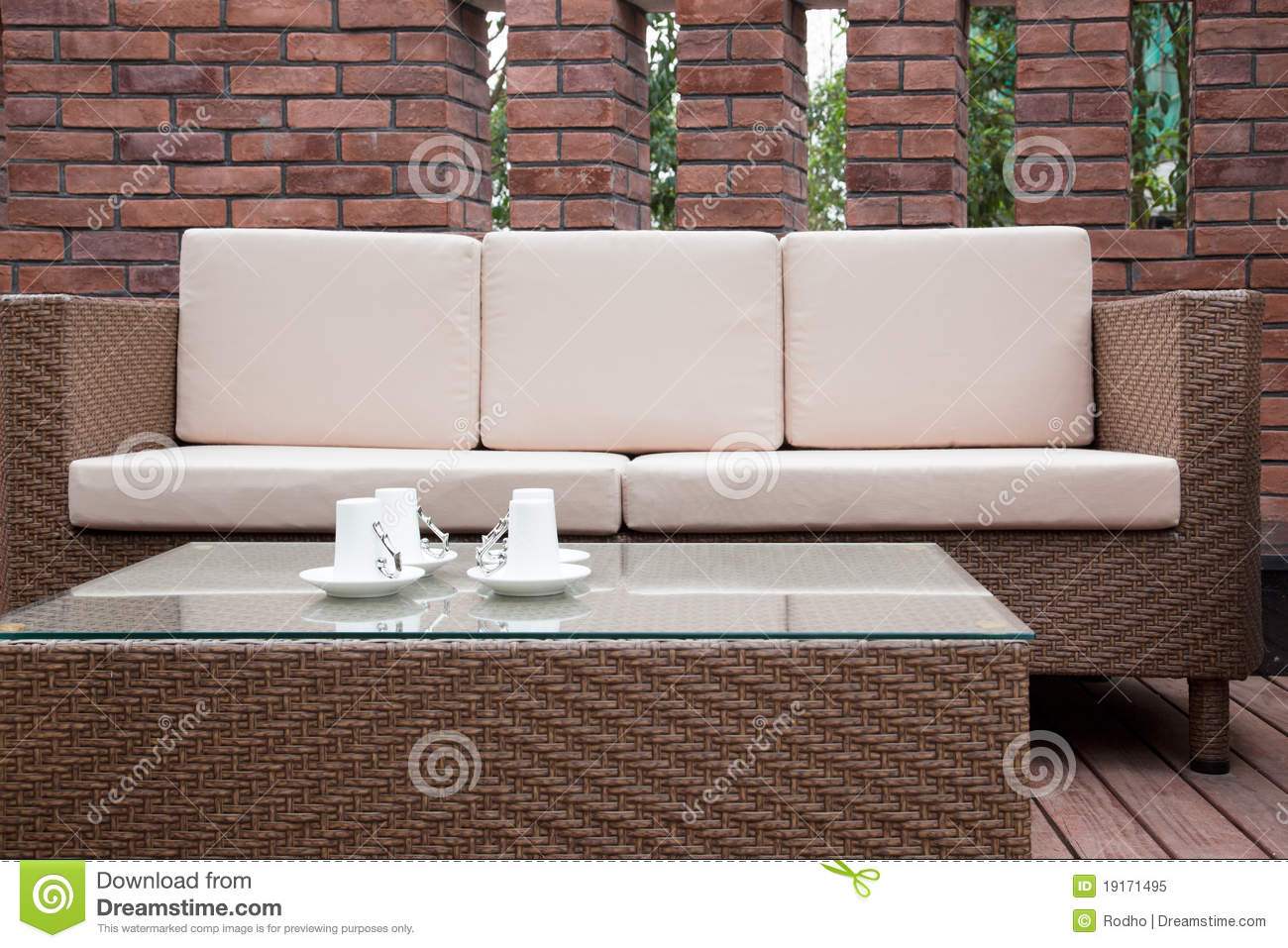 Outdoor Furniture Royalty Free Stock Image