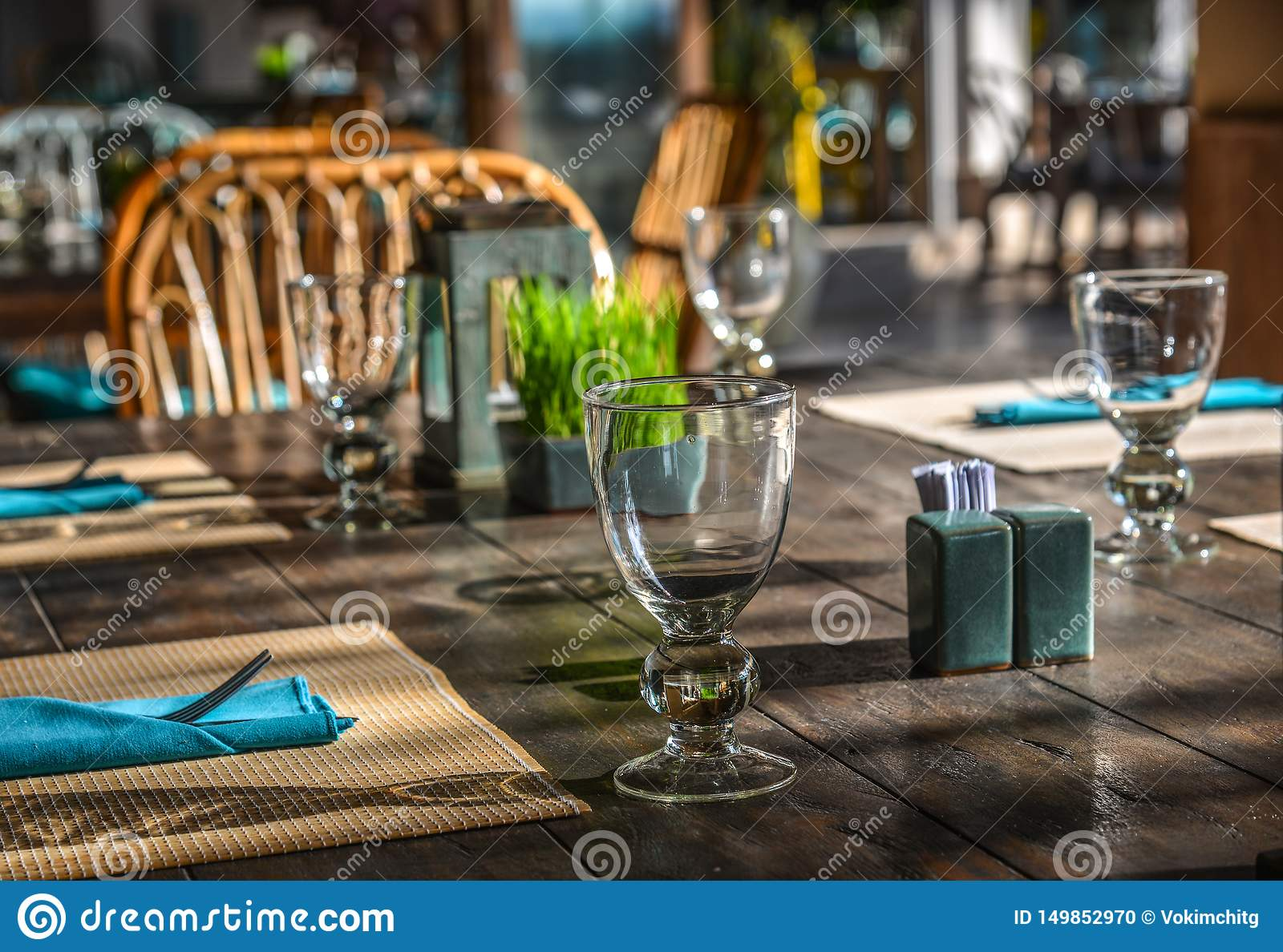 Outdoor Furniture In The Luxury Restaurant Stock Photo Image Of Architecture Decoration 149852970