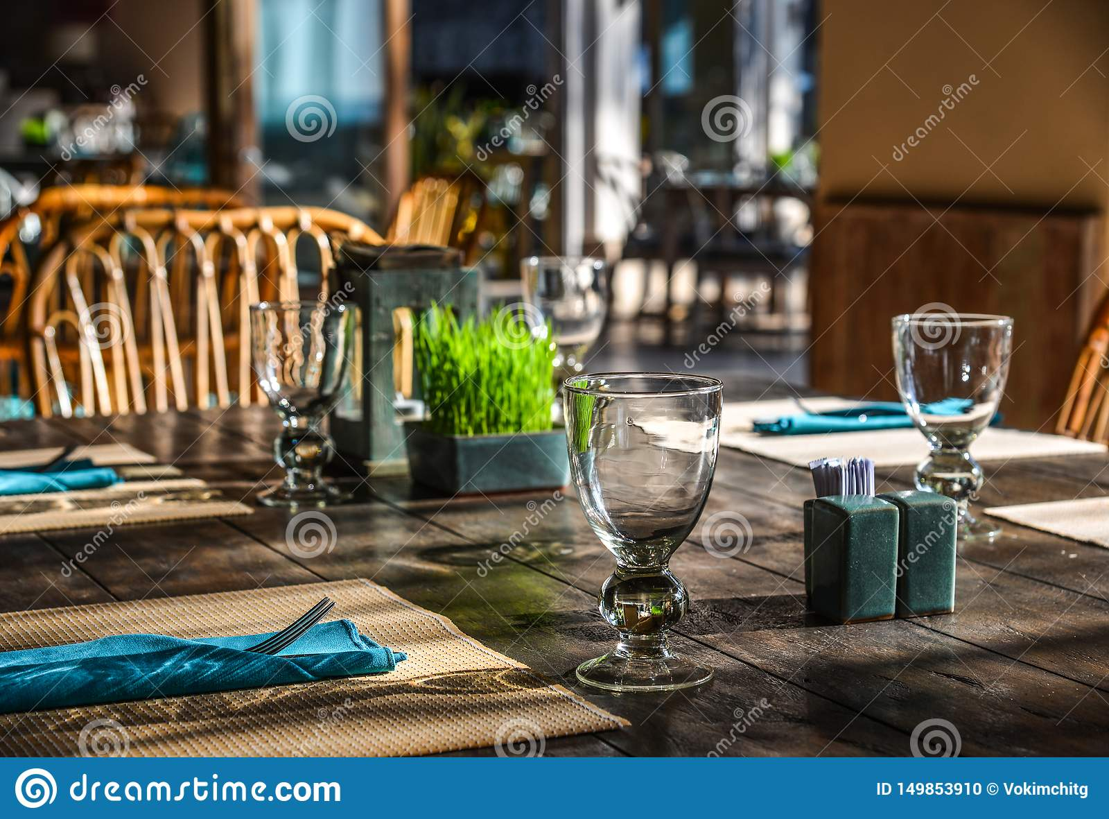 Outdoor Furniture In The Luxury Restaurant Stock Photo Image Of Lunch Design 149853910