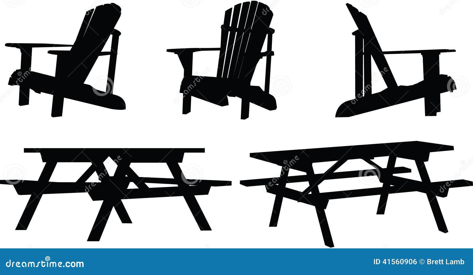 Outdoor Furniture Stock Illustration Illustration Of