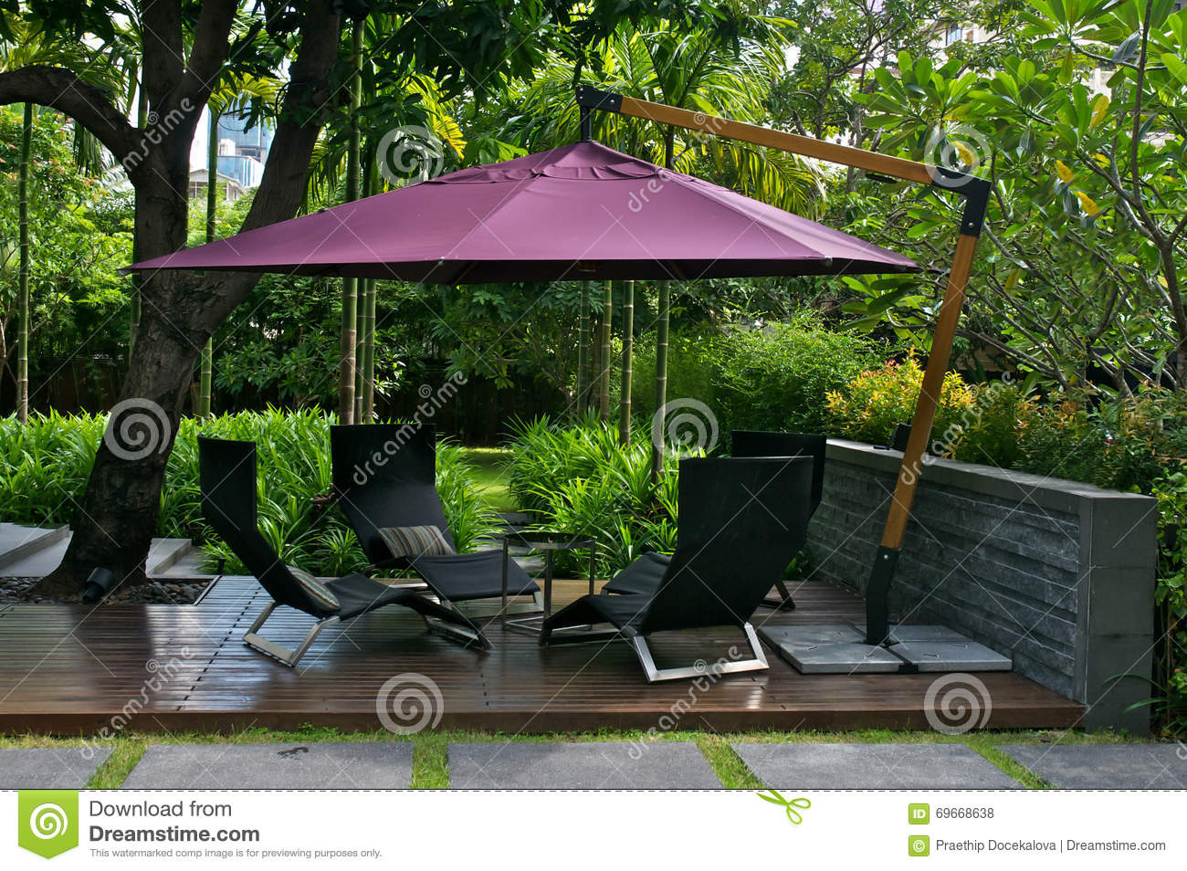 Excellent Outdoor Furniture With Umbrella Stock Photo Image Of Machost Co Dining Chair Design Ideas Machostcouk