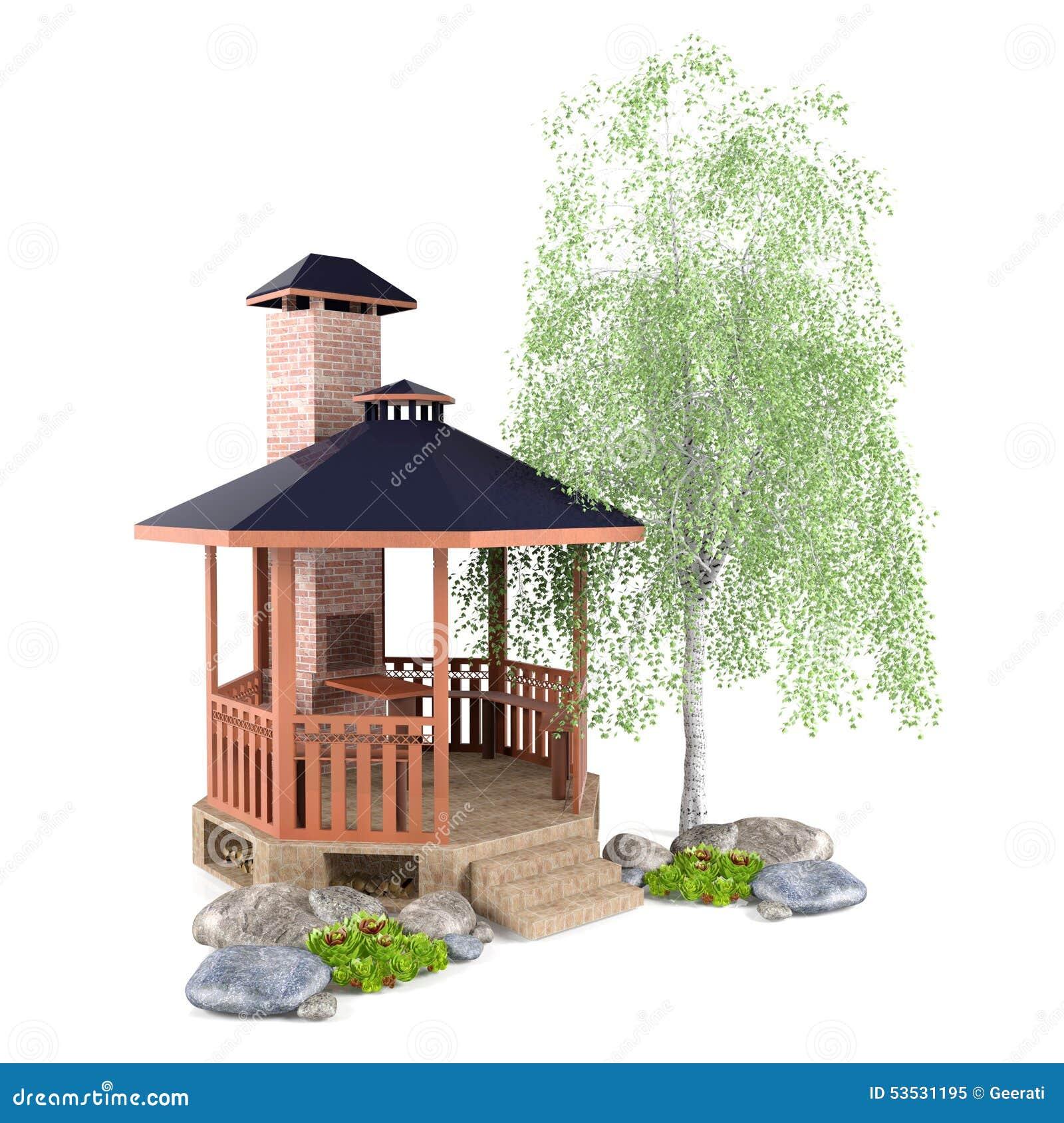 Outdoor Garden Design Stock Illustration Illustration Of Pagoda 53531195