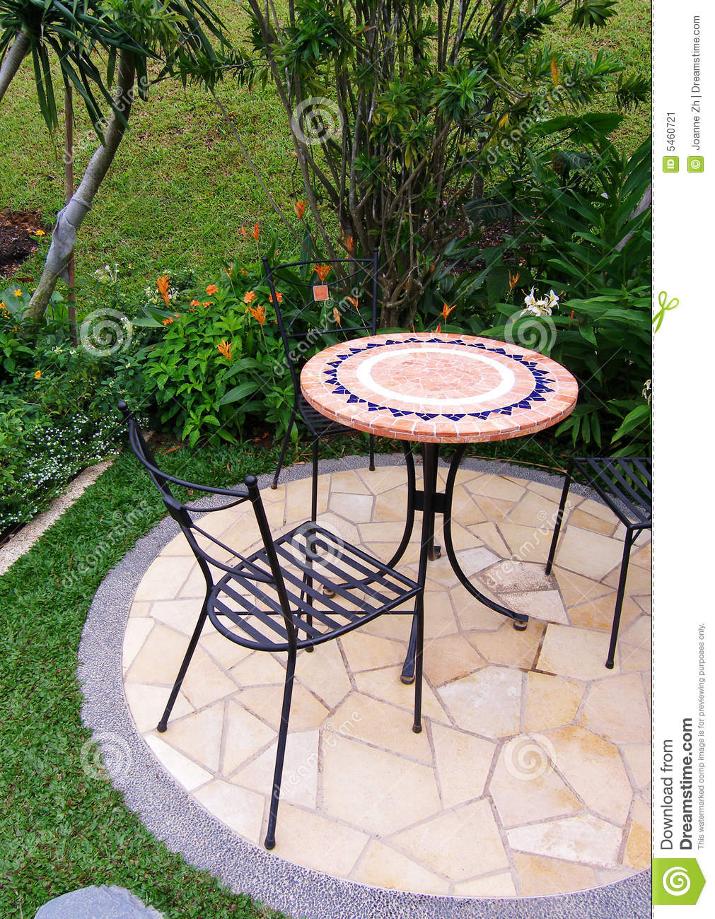 Outdoor Garden Patio Furniture Stock Image Image 5460721