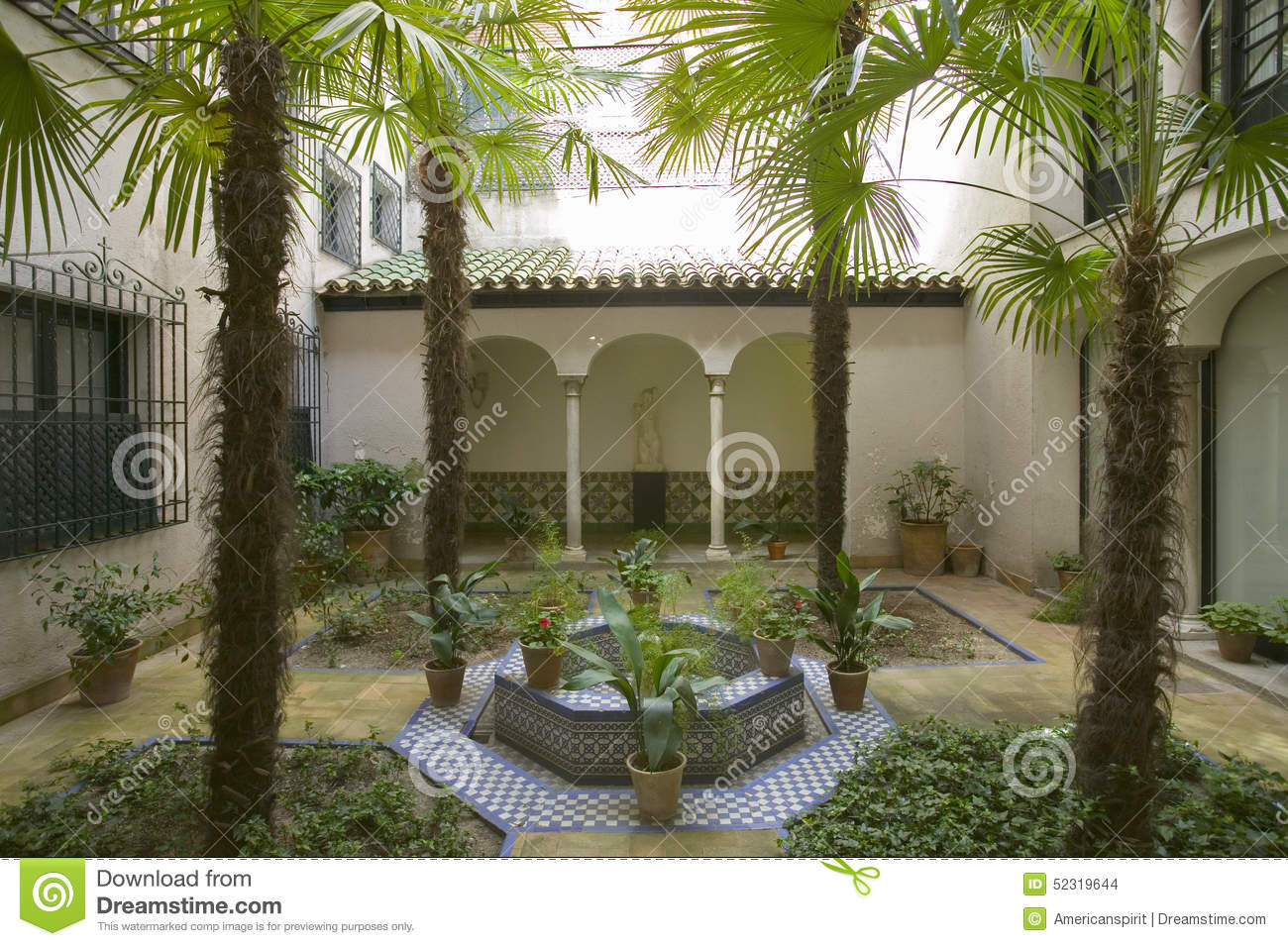 Outdoor Gardens Of The Sorolla Museum In Madrid, Spain Stock Photo ...