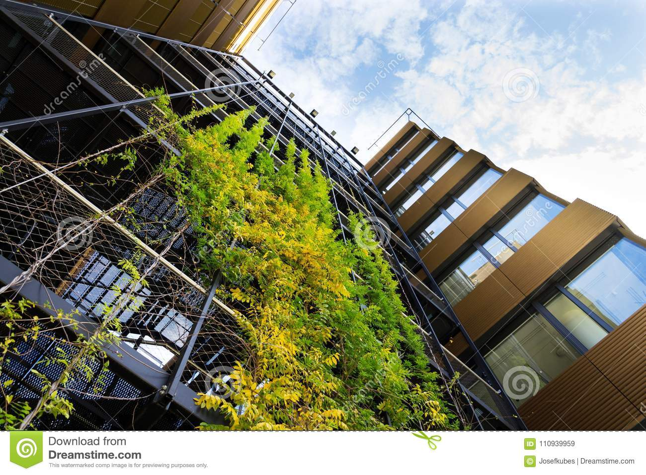 Outdoor Green Living Wall, Vertical Garden On Modern ... on Outdoor Living Buildings id=52509