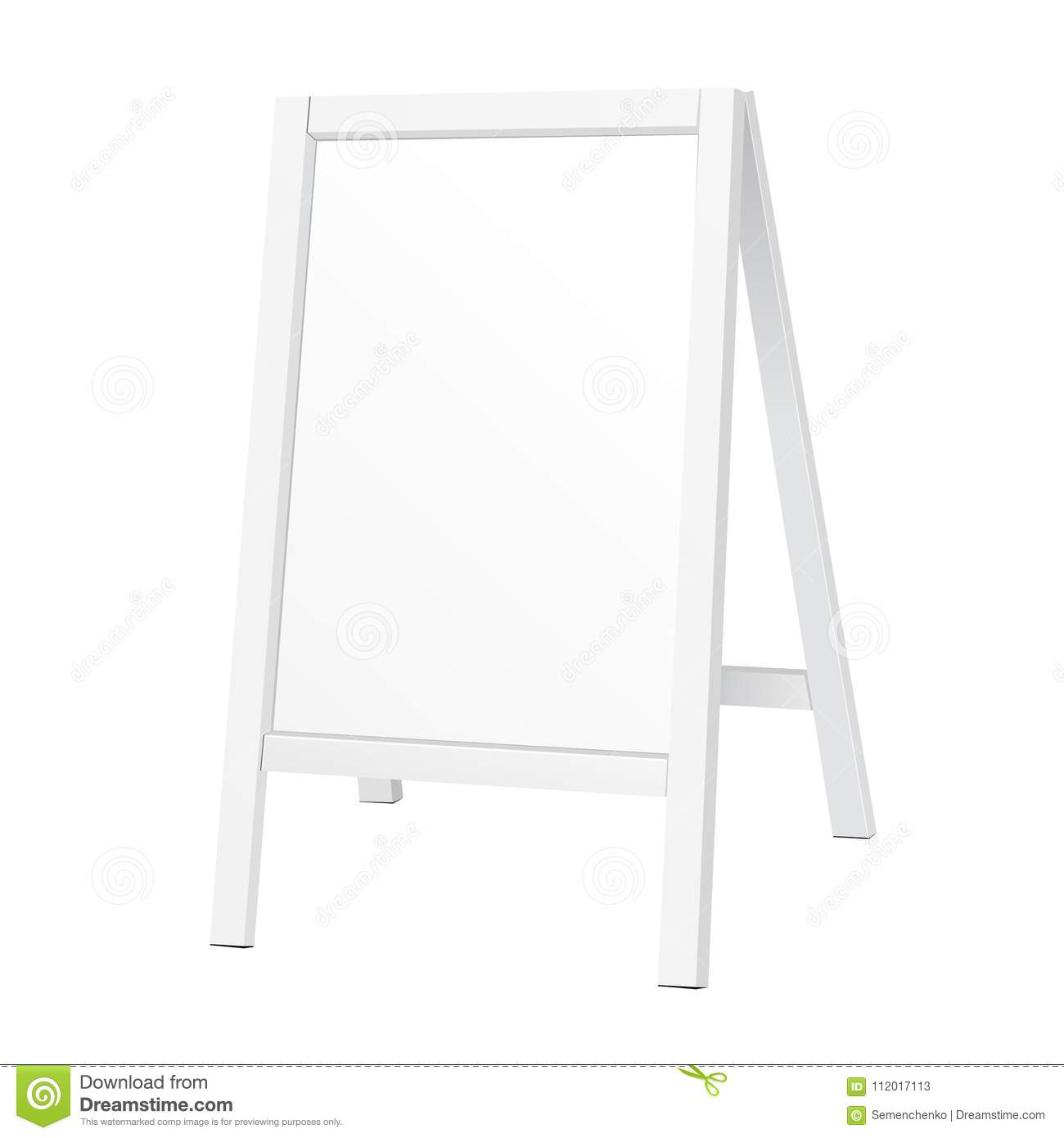 Outdoor Indoor Stander Advertising Stand Banner Shield Display, Advertising. Illustration Isolated.