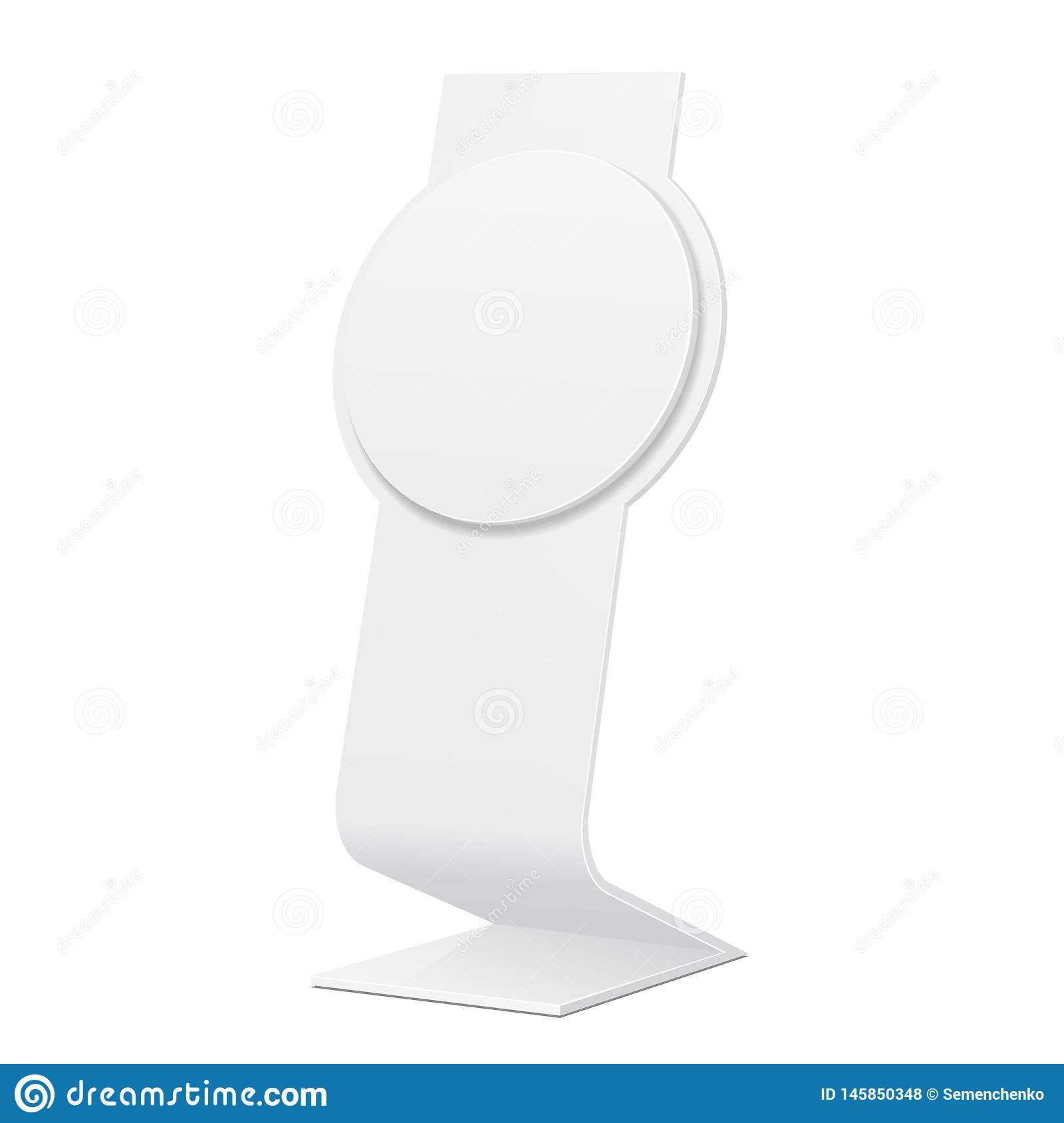 Outdoor Indoor Stander Advertising Stand Banner Shield Display, Advertising. Mock Up Products On Isolated.