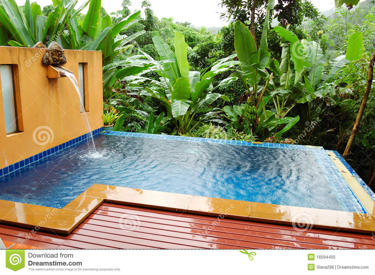 Outdoor Jacuzzi At The Luxury Villa Royalty Free Stock Photo ...