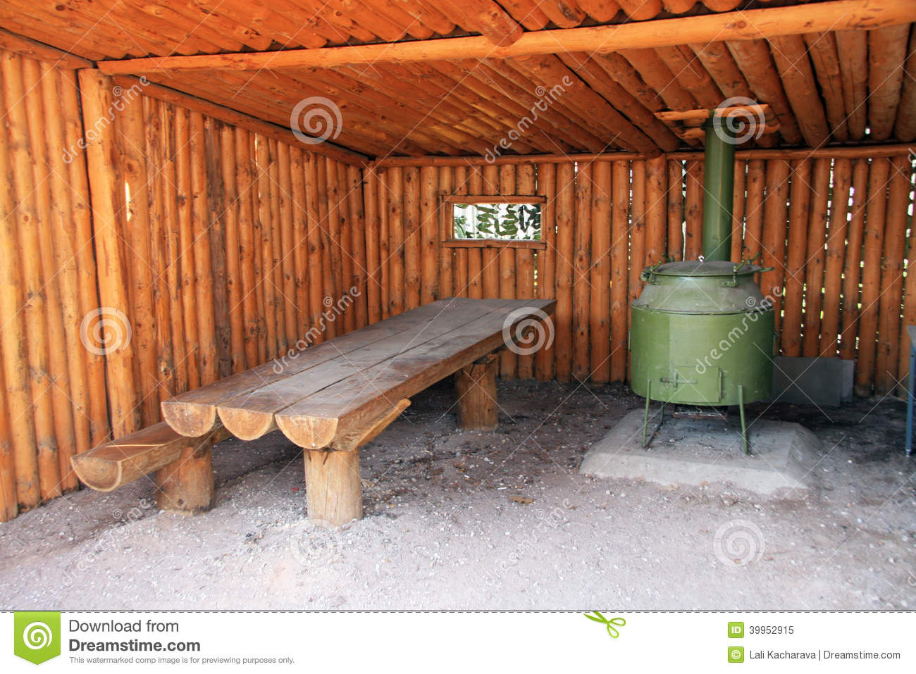 Outdoor kitchen stock image image of camp russia for Outdoor camping kitchen ideas