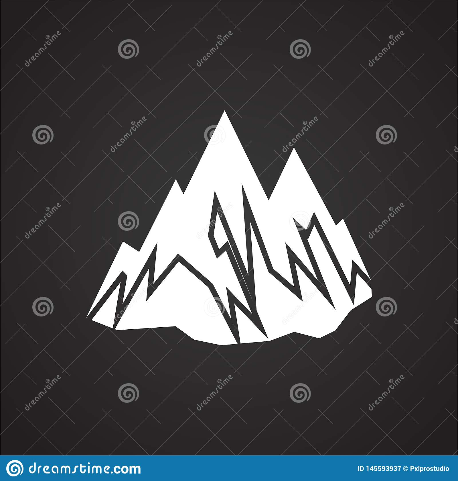 Outdoor Landscape Icon On Background For Graphic And Web Design Simple Vector Sign Internet Concept Symbol For Website Stock Vector Illustration Of Garden Abstract 145593937
