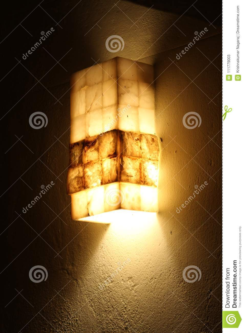 Outdoor light in crystal stone
